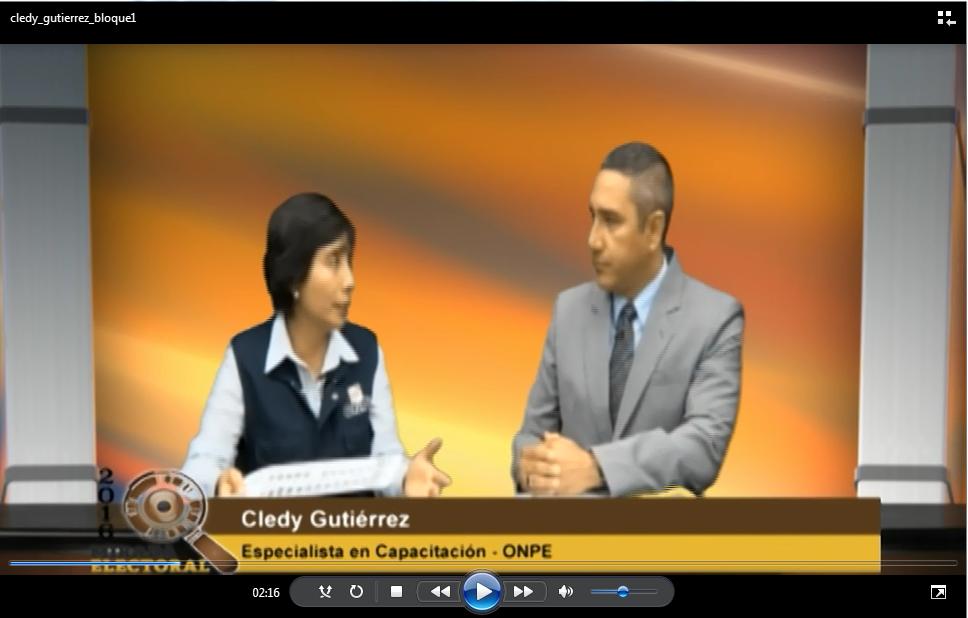 Voto milenial: Cledy Gutierrez - Especialista en Capacitación - ONPE