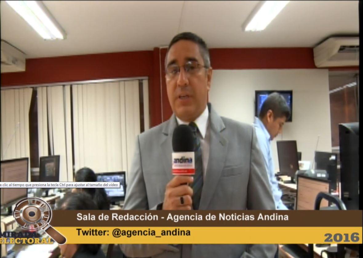 Resultados ONPE al 20.06% de los candidatos a la presidencia de la República.