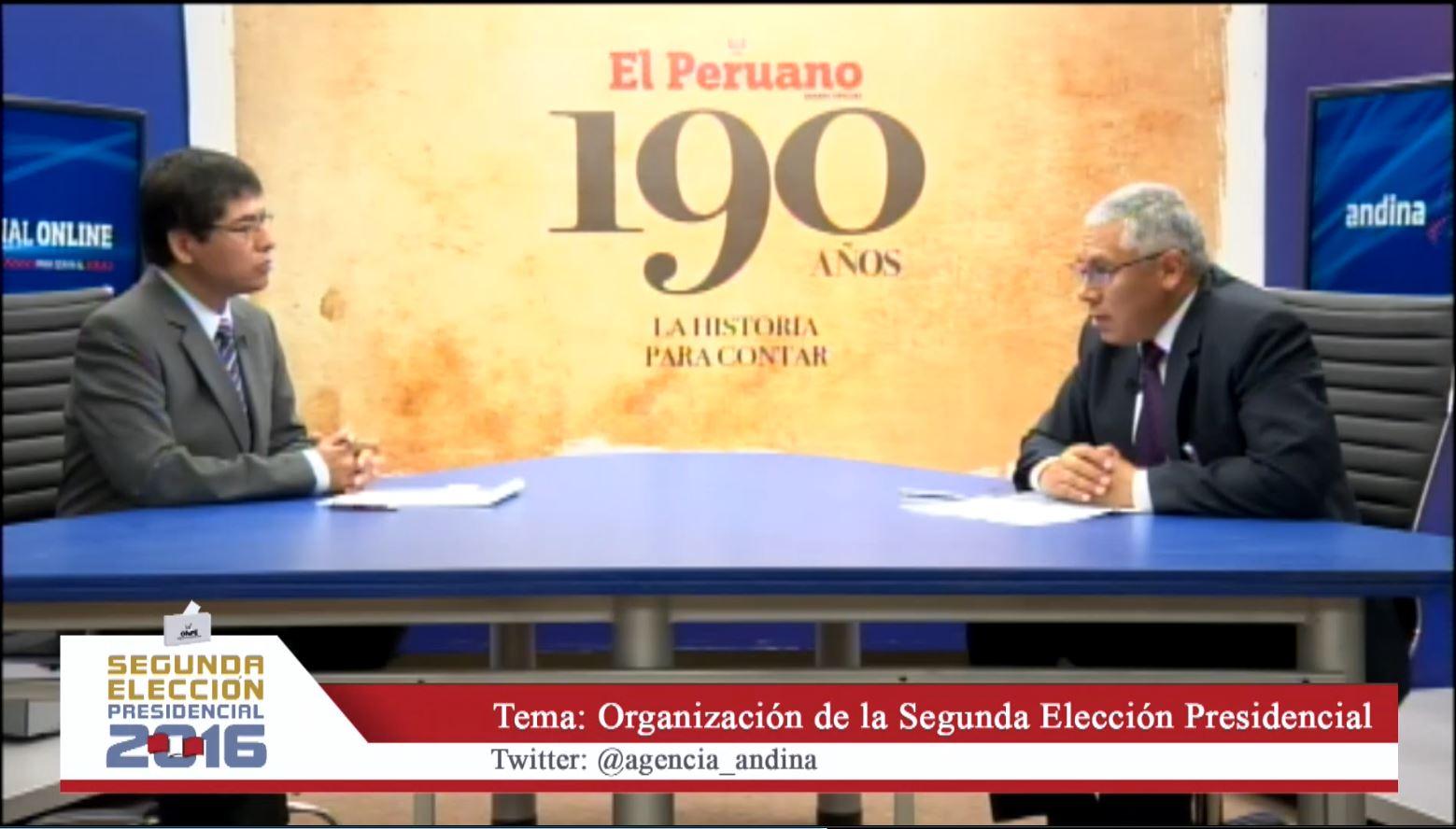ONPE- Segunda Elección Presidencial 2016