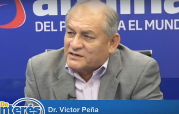 Candidato al rectorado de la Universidad Nacional Mayor de San Marcos Dr. Víctor Peña, explica propuestas.