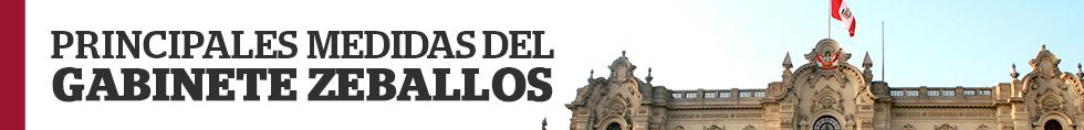 Principales medidas del gabinete Zeballos