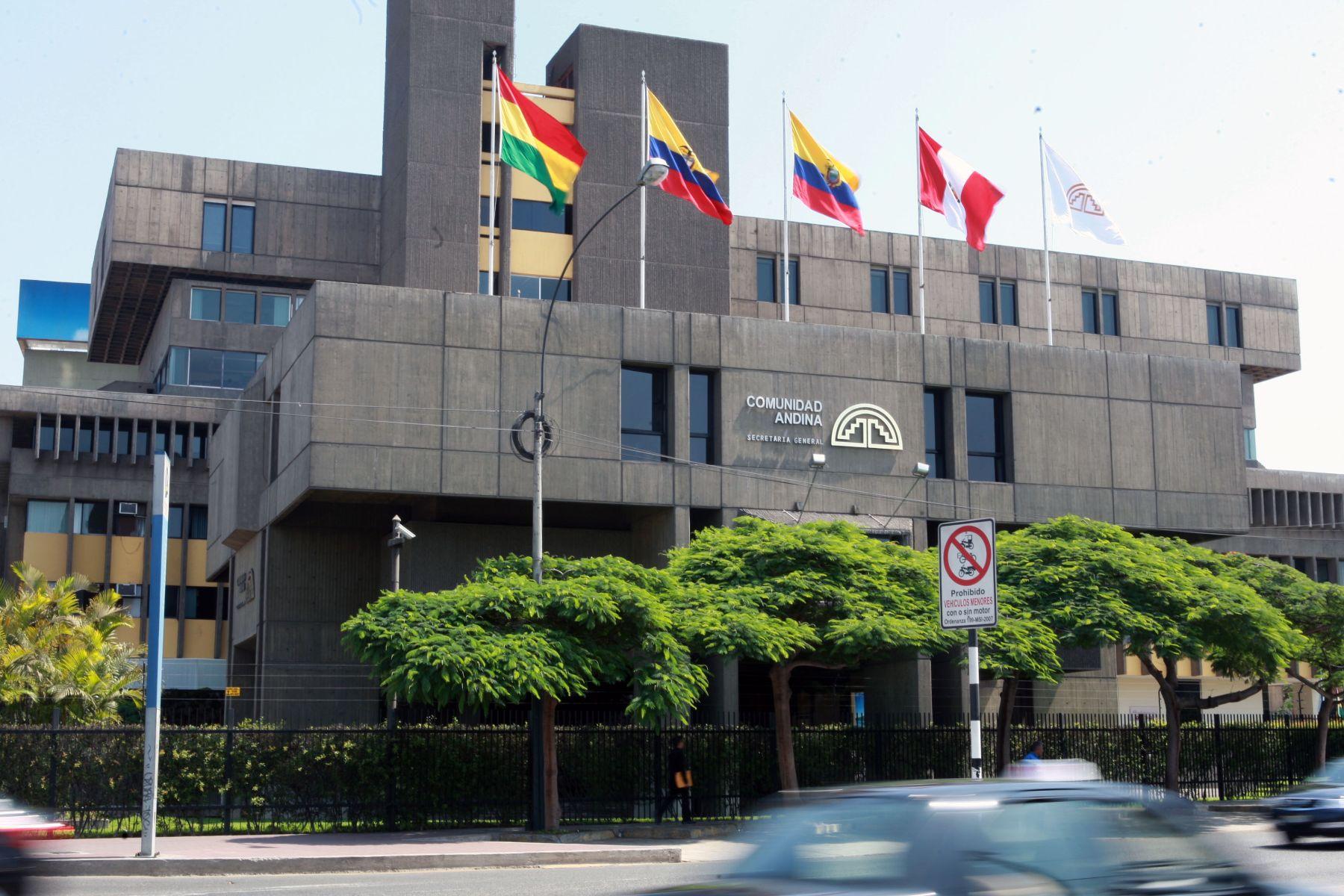 Sede de la Comunidad Andina (CAN) en Lima. ANDINA/Norman Córdova