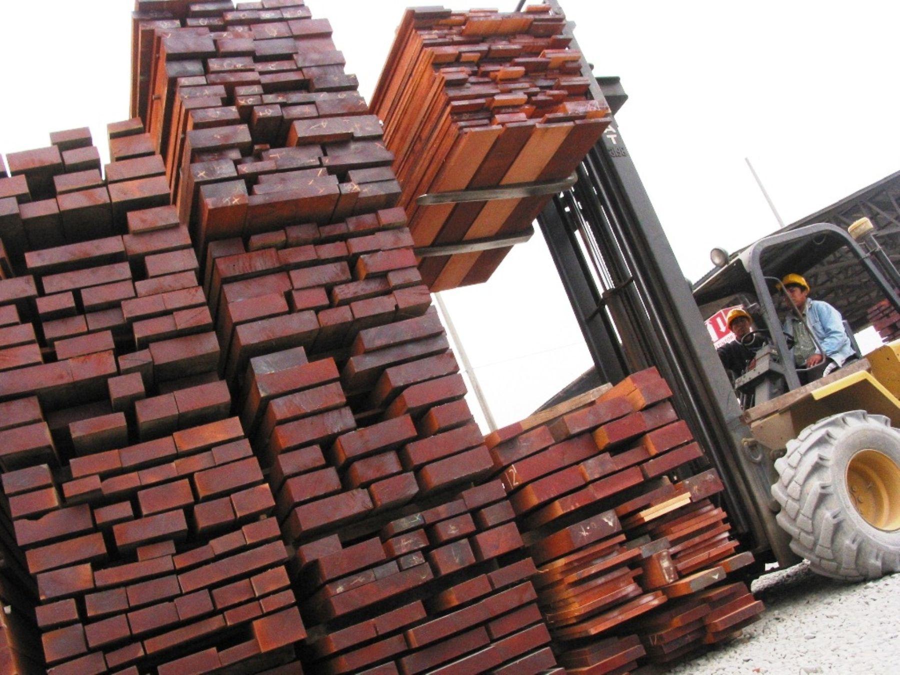 Madera de exportación. ANDINA/Difusión