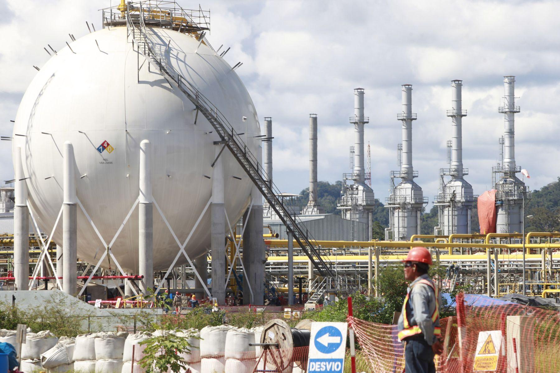 Planta de gas natural de Camisea en la región Cusco. ANDINA/archivo