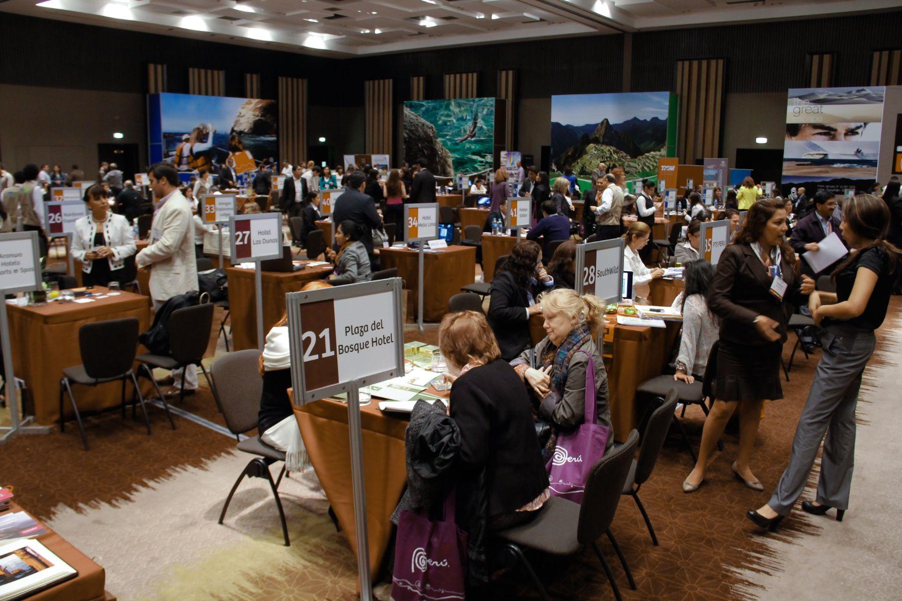 Reuniones del Peru Travel Mart (PTM) 2012. Foto: Comisión organizadora de PTM 2013.