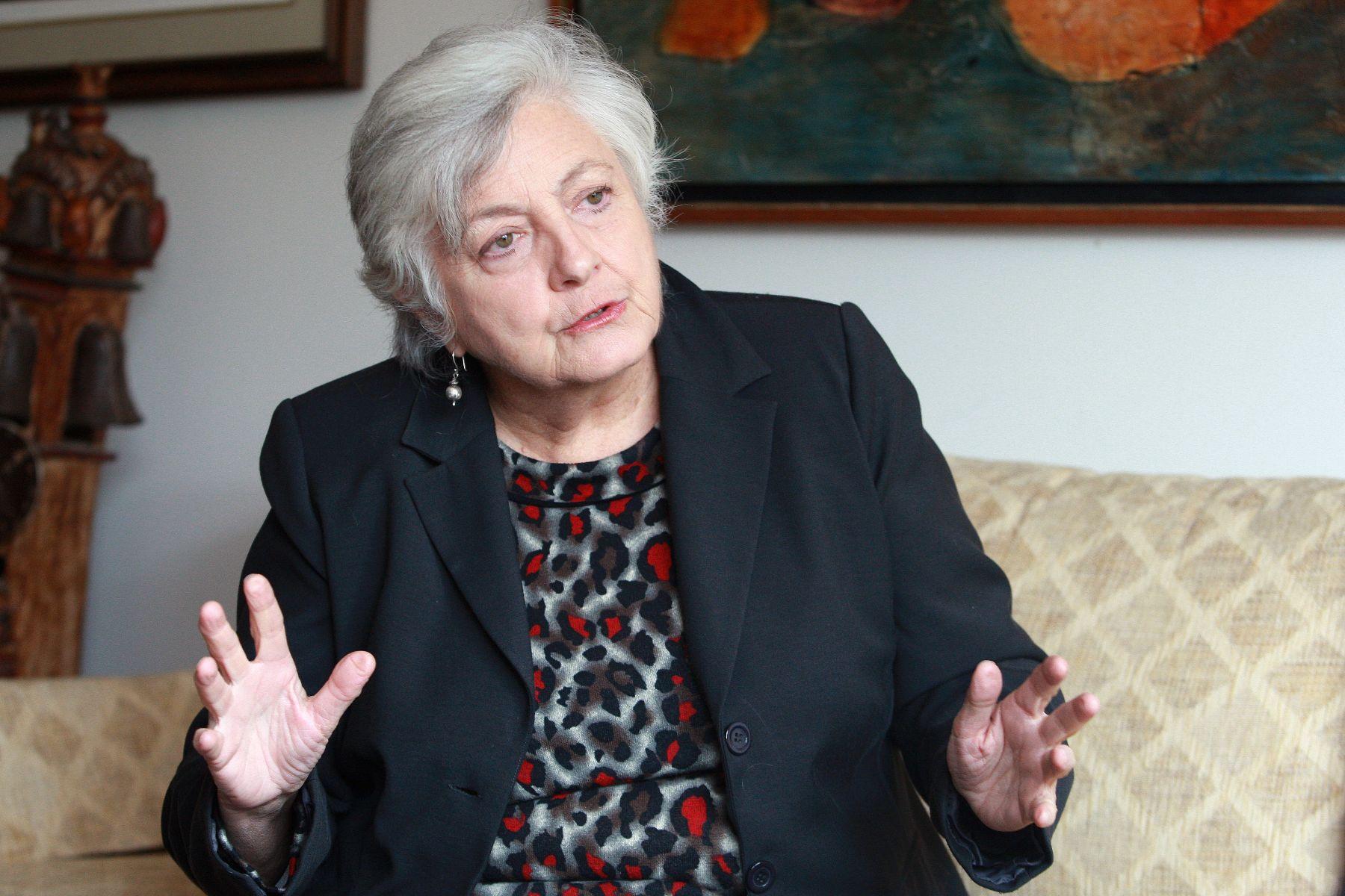 Jefe de Devida, Carmen Masías. ANDINA/Norman Córdova