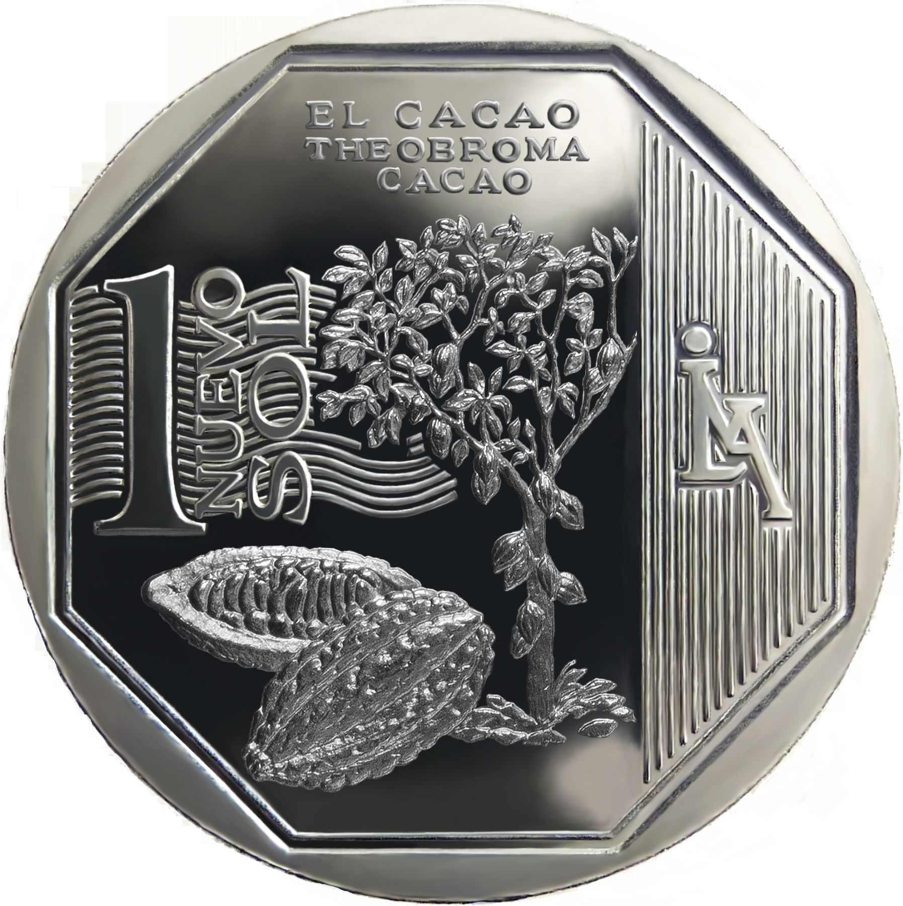 New one sol coin depicting cacao.