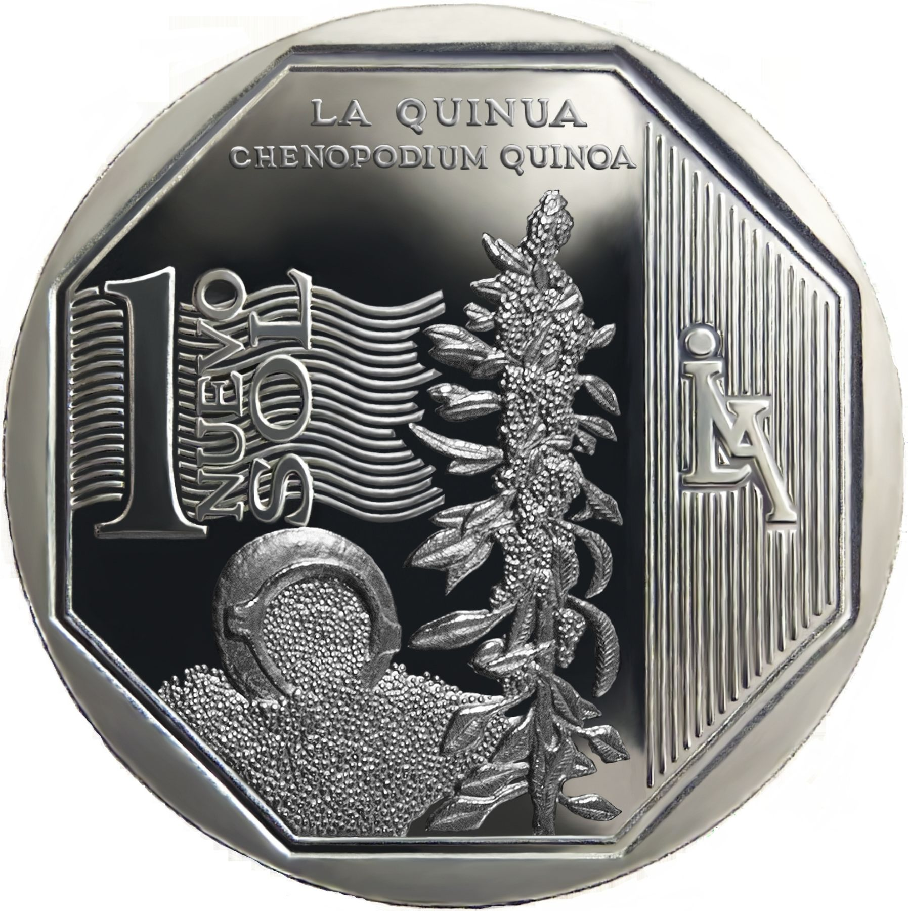 New one sol coin depicting quinoa.