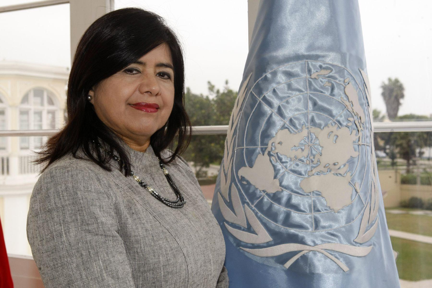 Rebeca Arias, coordinadora Residente de las Naciones Unidas en Perú. ANDINA/Norman Córdova