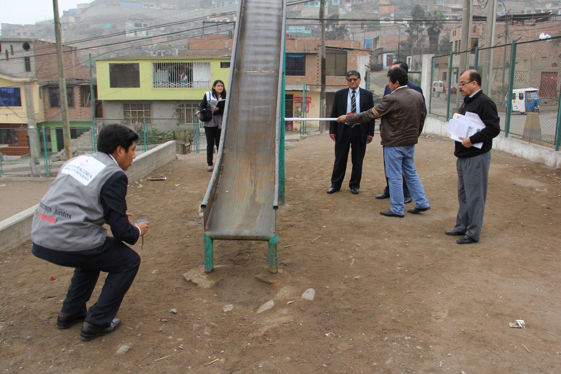 Verifican Seguridad En Parques Con Juegos Infantiles Para Prevenir