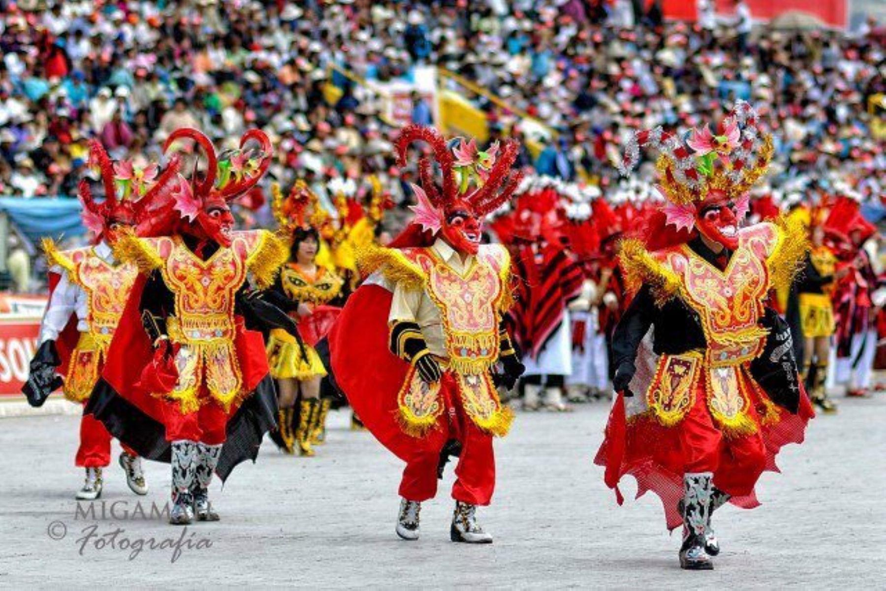 La diablada se practica en el altiplano peruano.