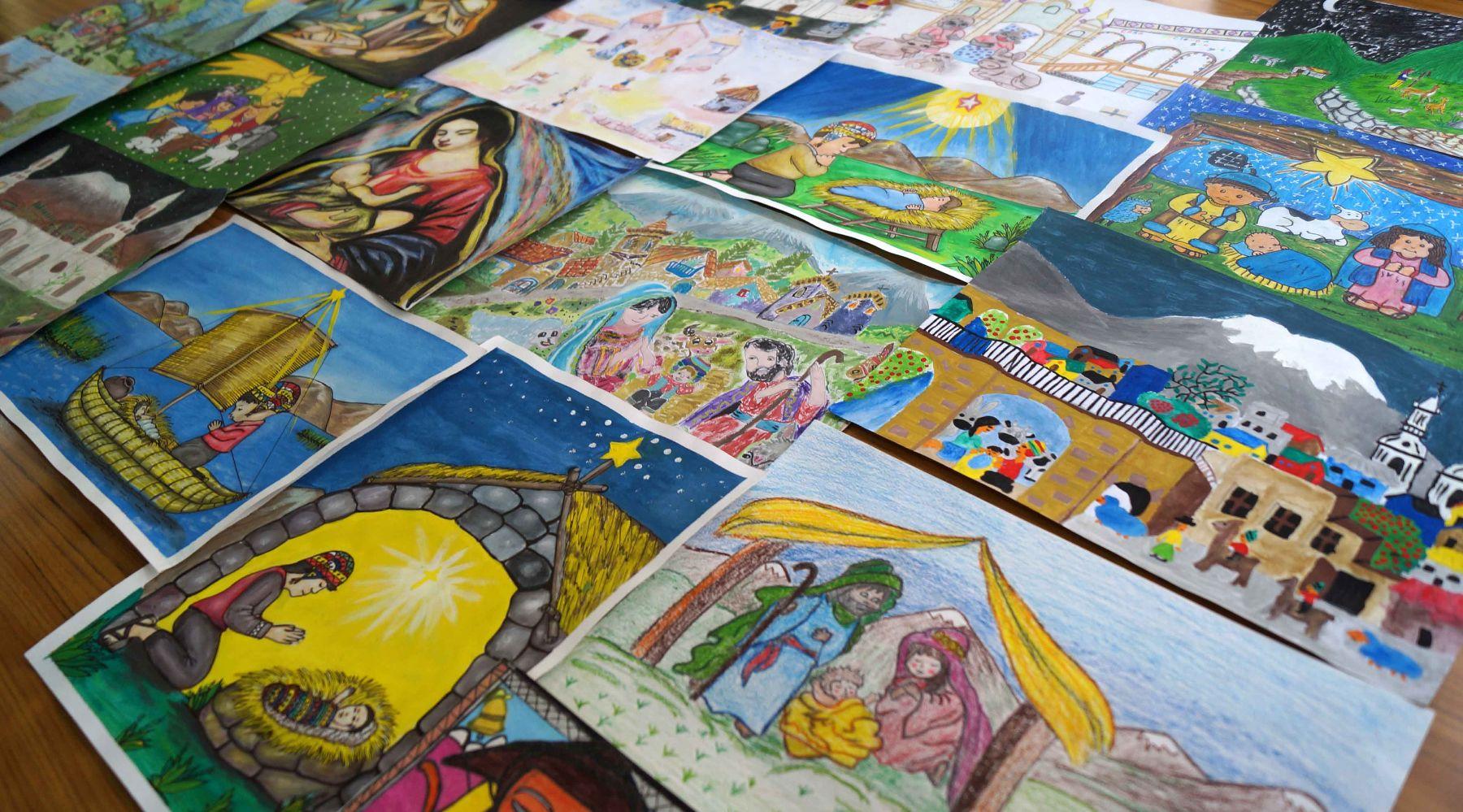 Este año, Inabif imprimió 75 mil tarjetas navideñas dibujadas por niños y adolescentes.