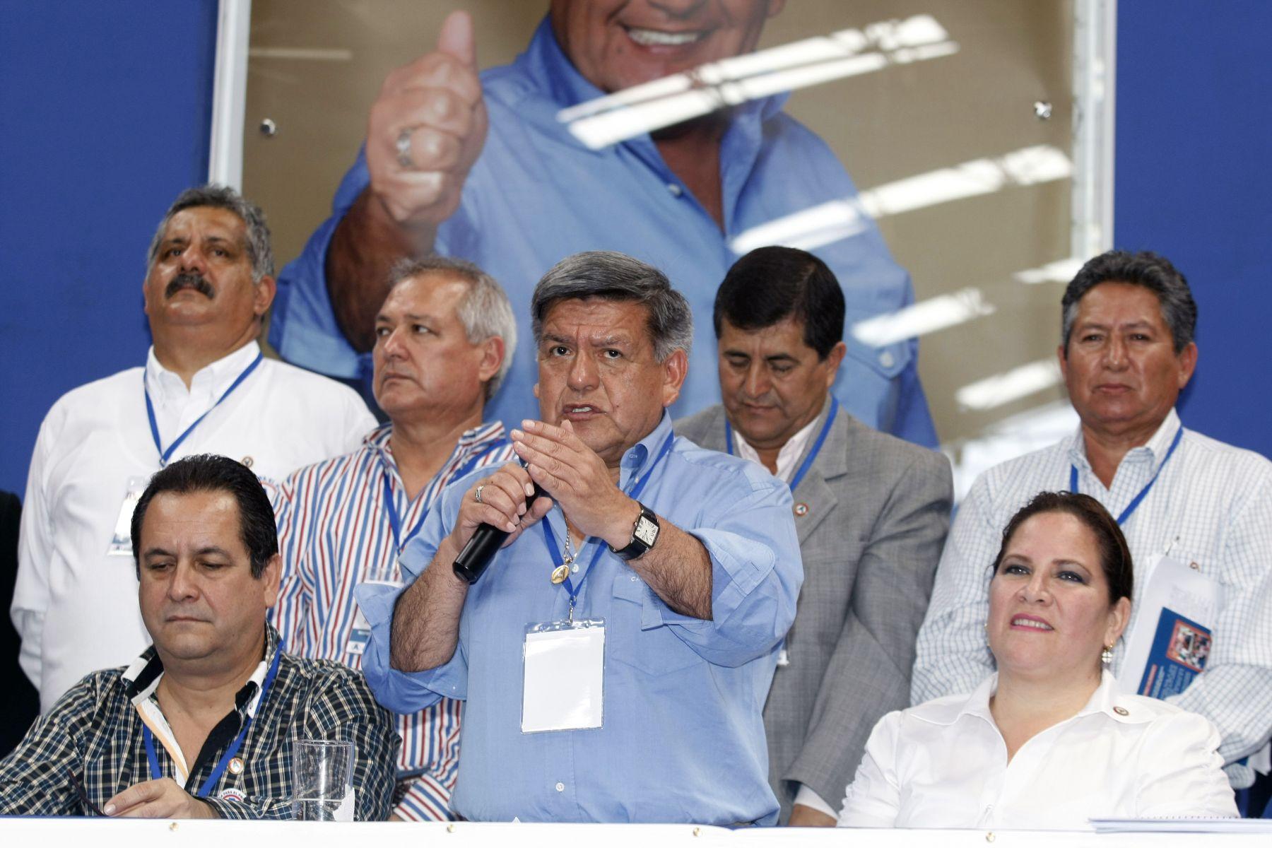 .IV Encuentro de Responsables Políticos Regionales de APP inagura el Dr Cesar Acuña Peralta. ANDINA/Norman Córdova
