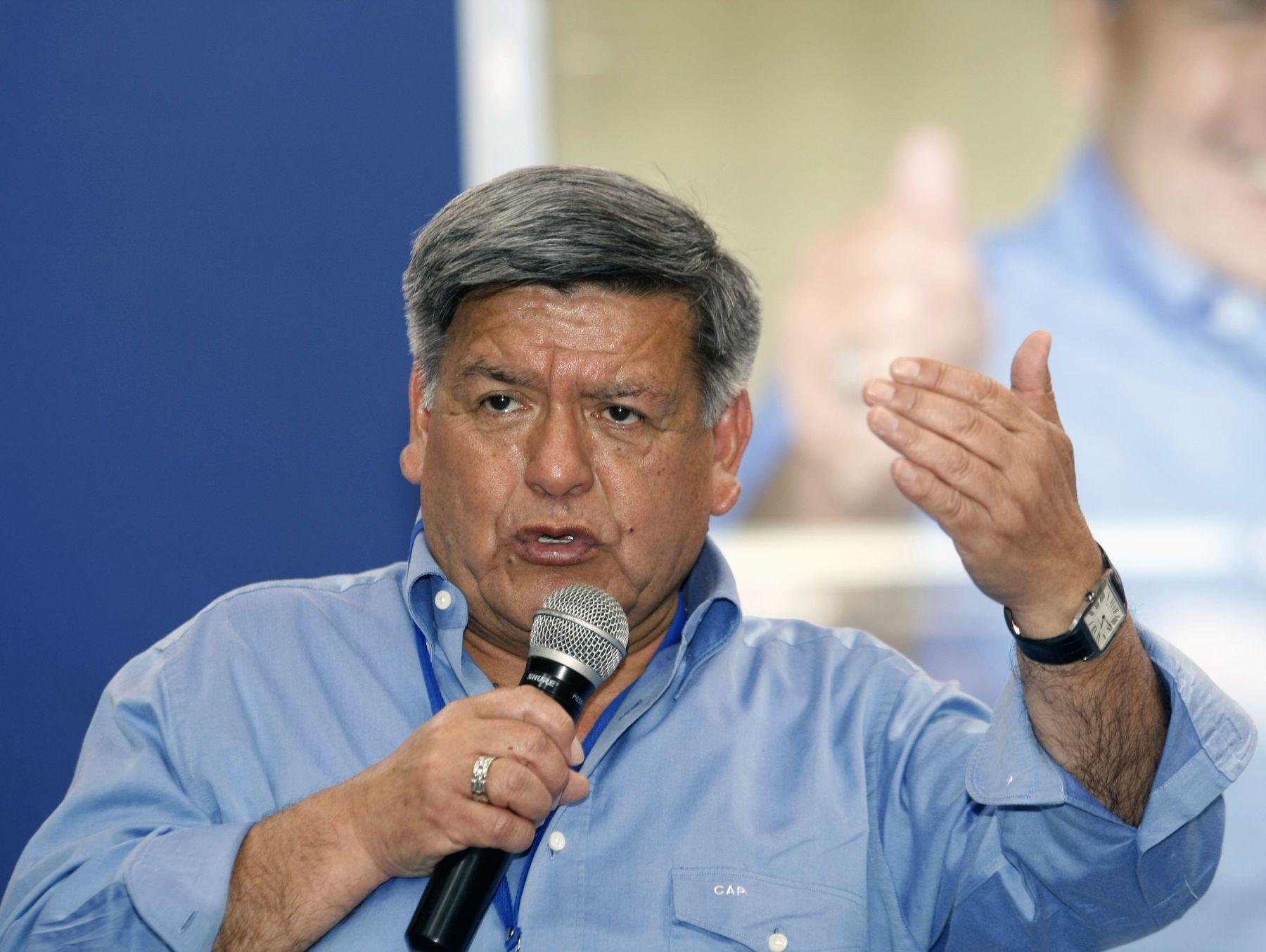IV Encuentro de Responsables Políticos Regionales de APP inagura el Dr Cesar Acuña Peralta. ANDINA/Norman Córdova