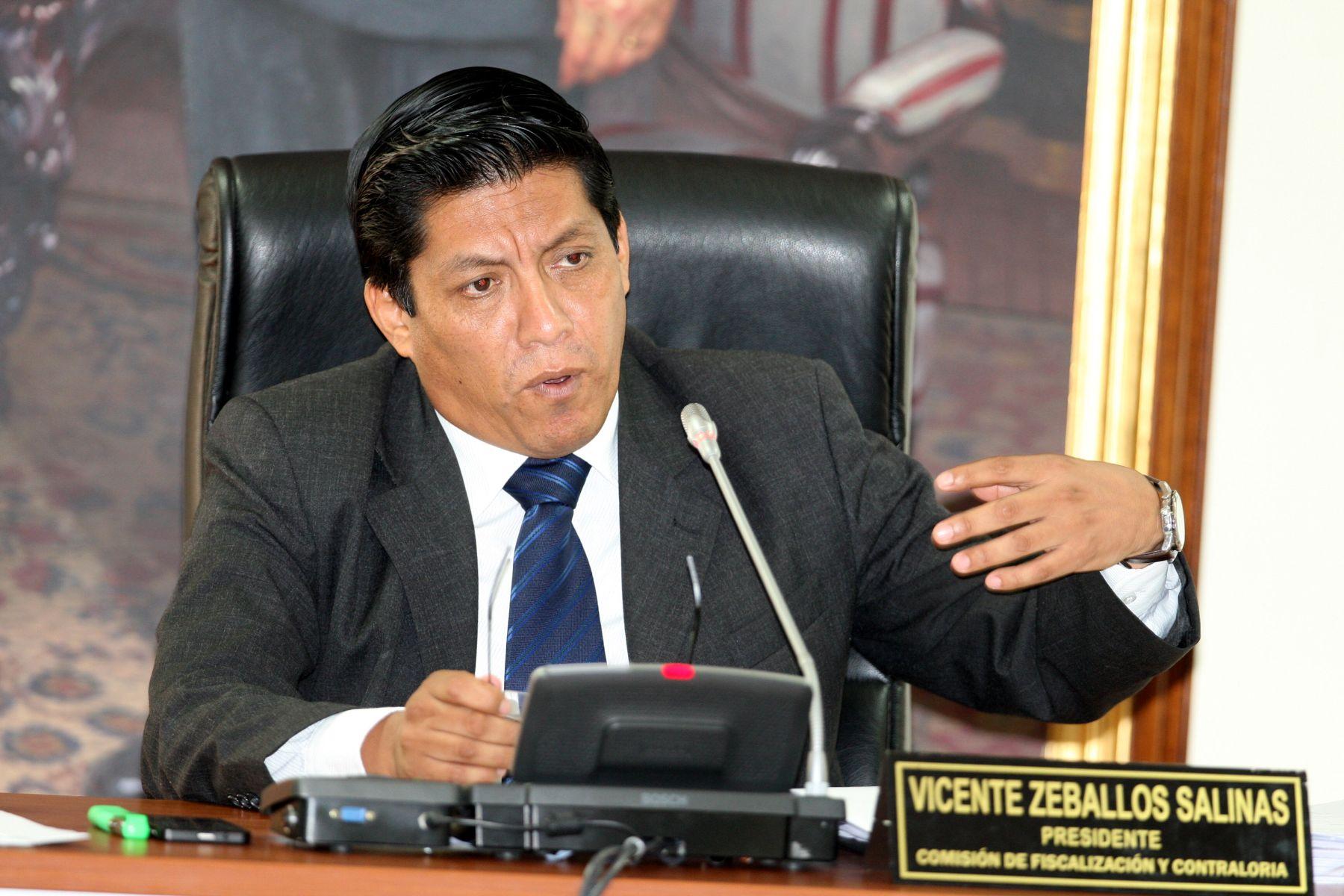 Comisión de Fiscalización, presidida por el congresista Vicente Zeballos. Foto: ANDINA/Archivo.