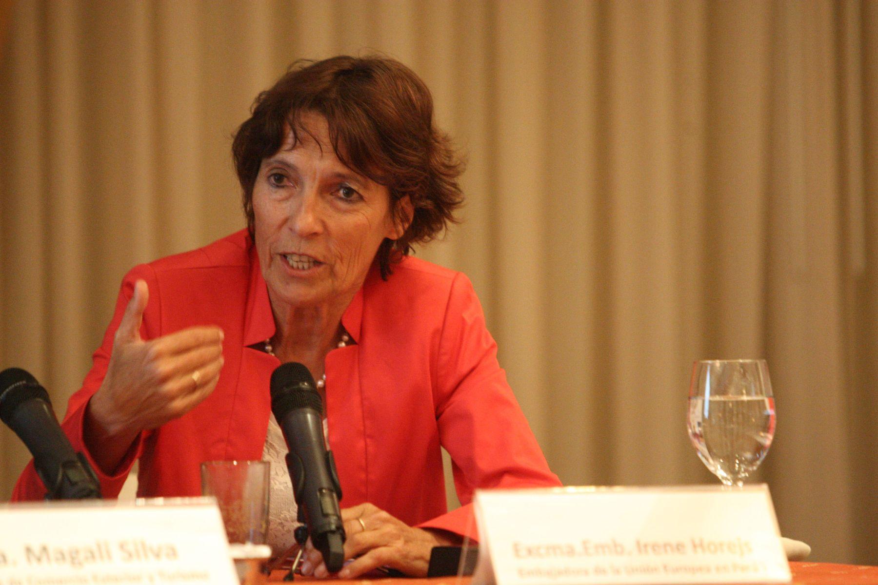 Ambassador of the European Union to Peru, Irene Horejs. Foto: ANDINA/Marco del Río