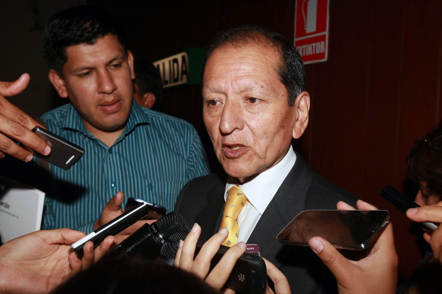 Ex ministro de Energía y Minas, Jorge Merino, destacó aporte de la minería. ANDINA/Héctor Vinces