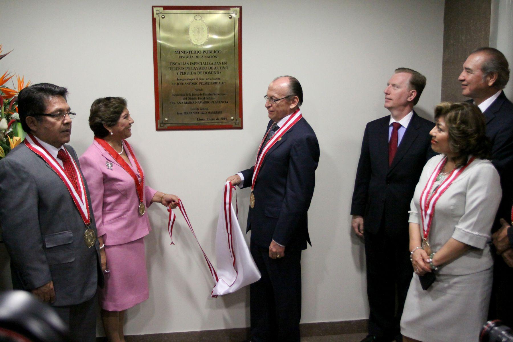 Fiscal de la Nación, Jose Antonio Peláez, inaugura la sede de las fiscalías especializadas en lavado de activo y pérdida de dominio. Foto: ANDINA/Melina Mejia