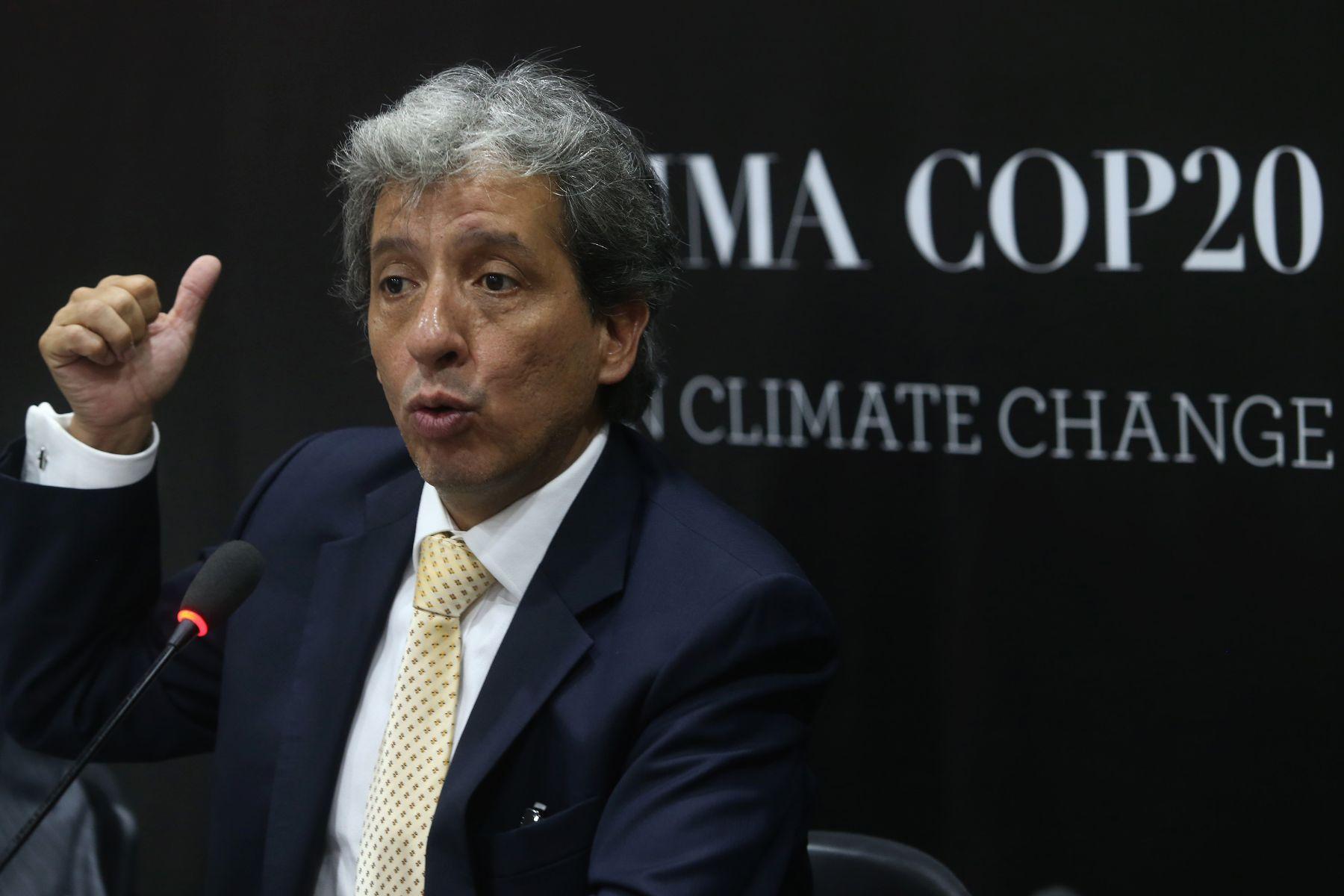 Environment Minister Manuel Pulgar-Vidal. Photo:ANDINA/Oscar Farje.