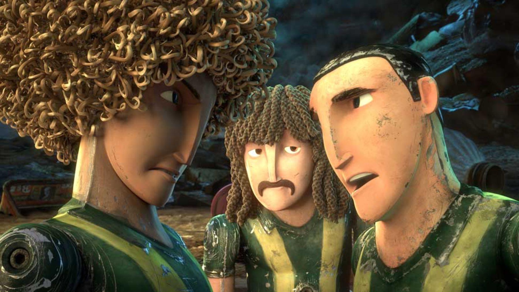 """Escena de la película de animación argentina """"Metegol""""."""