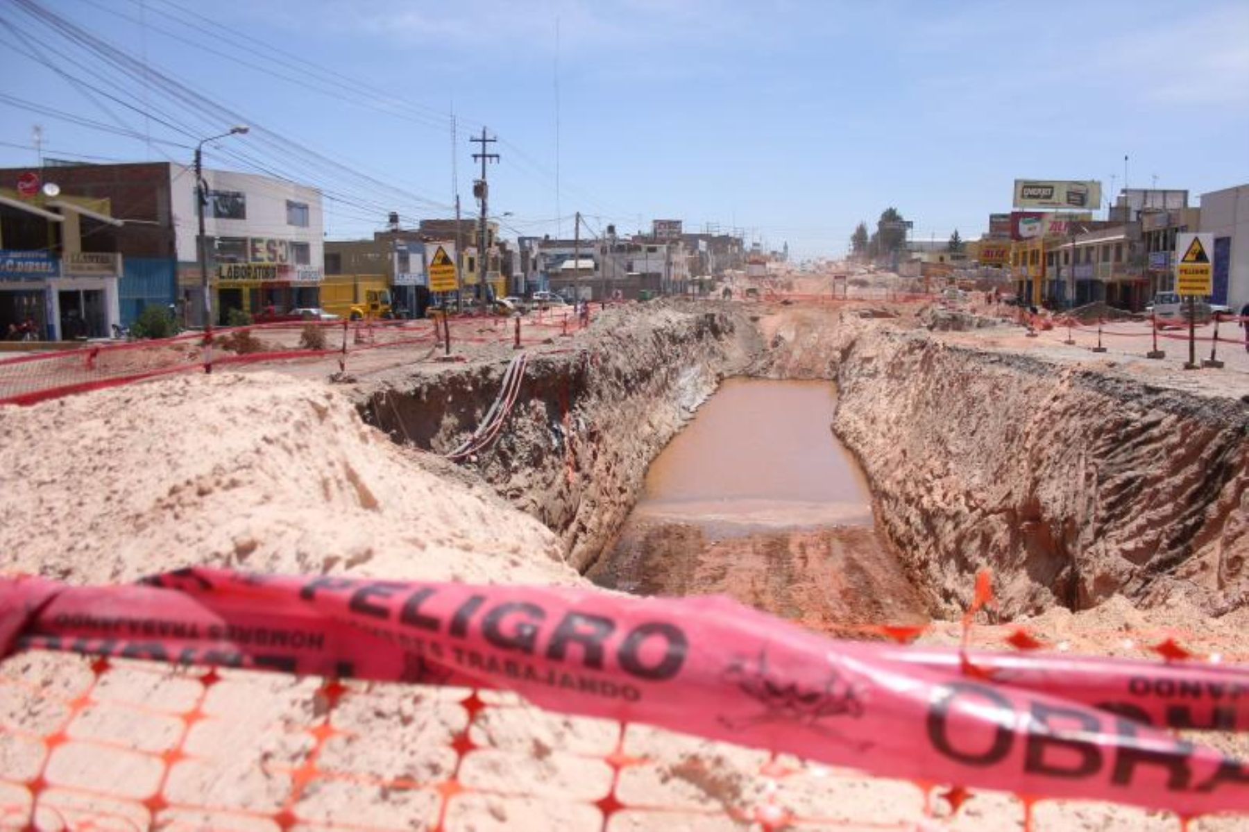 Un lamentable accidente se registró en los trabajos de construcción de la Variante de Uchumayo, en Arequipa.