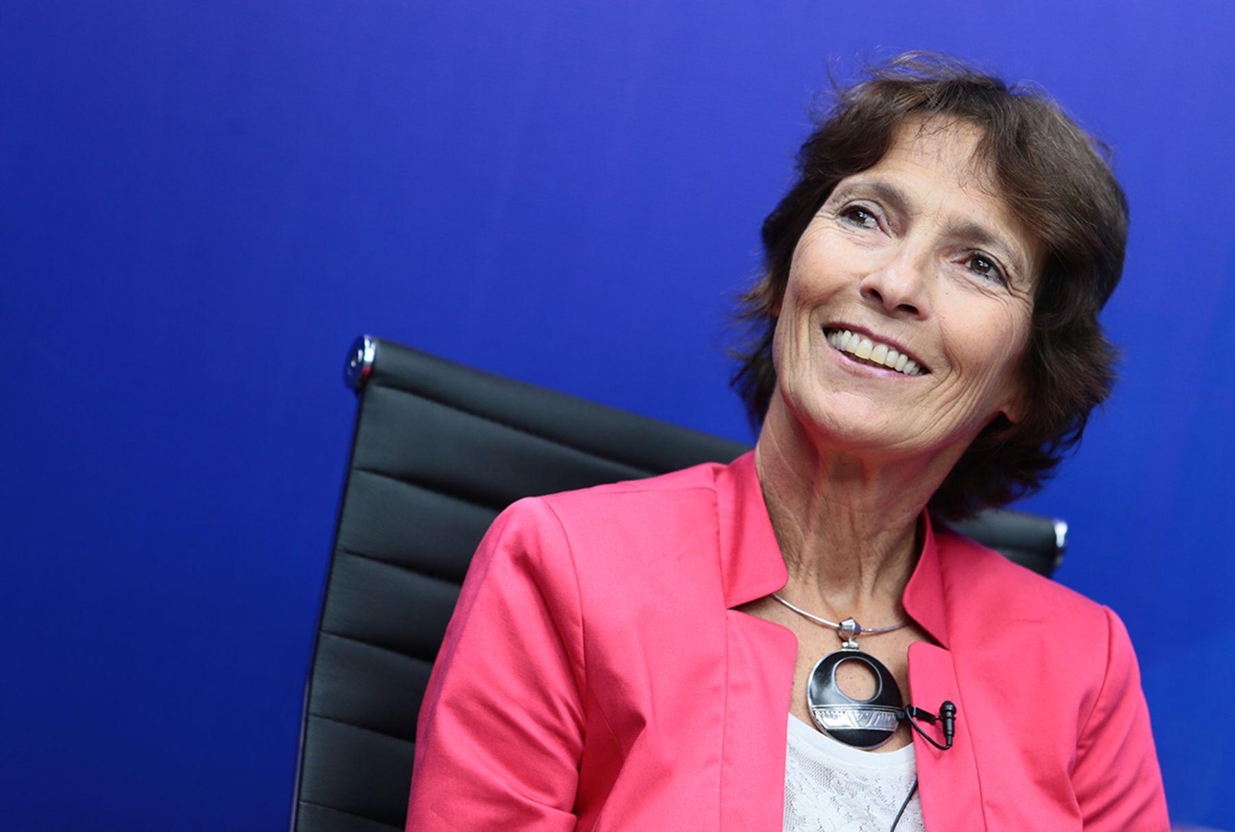Embajadora de la Unión Europea en el Perú, Irene Horejs.Foto: ANDINA/Carlos Lezama