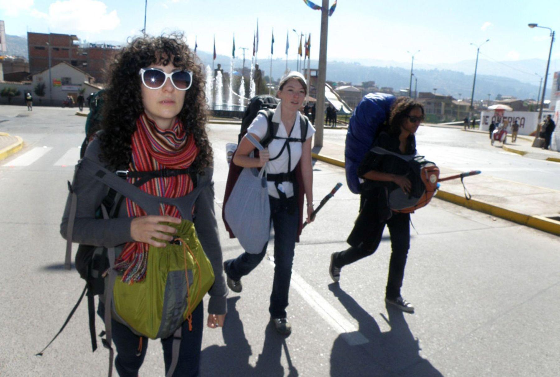 Turistas en Cusco