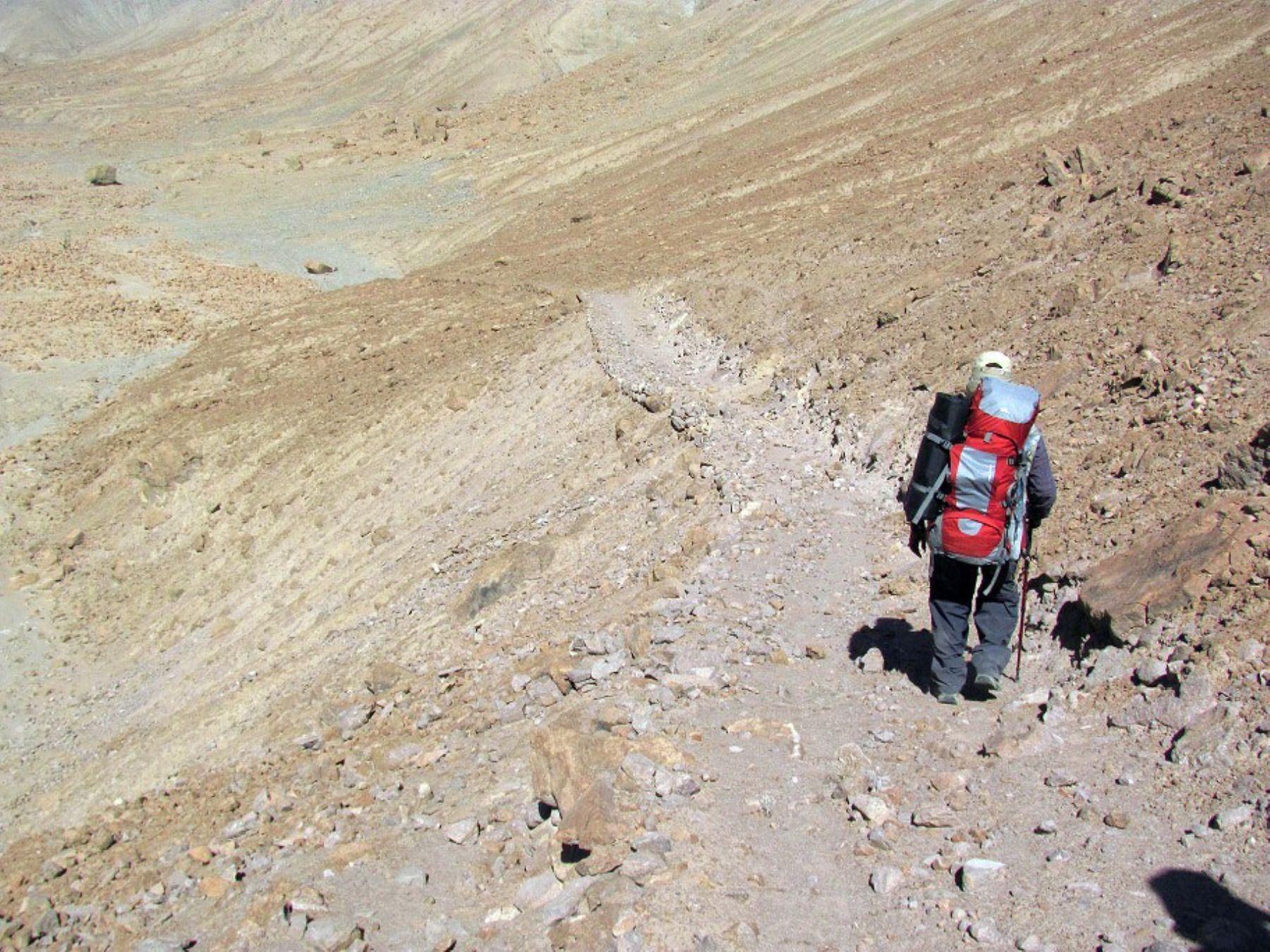 El camino inca descubierto recorre los distritos de Pocollay y Tacna, en la región Tacna.