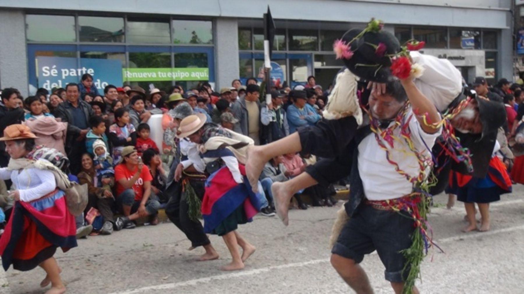 Huancayo inició las celebraciones por el inicio del Carnaval Wanka 2014.