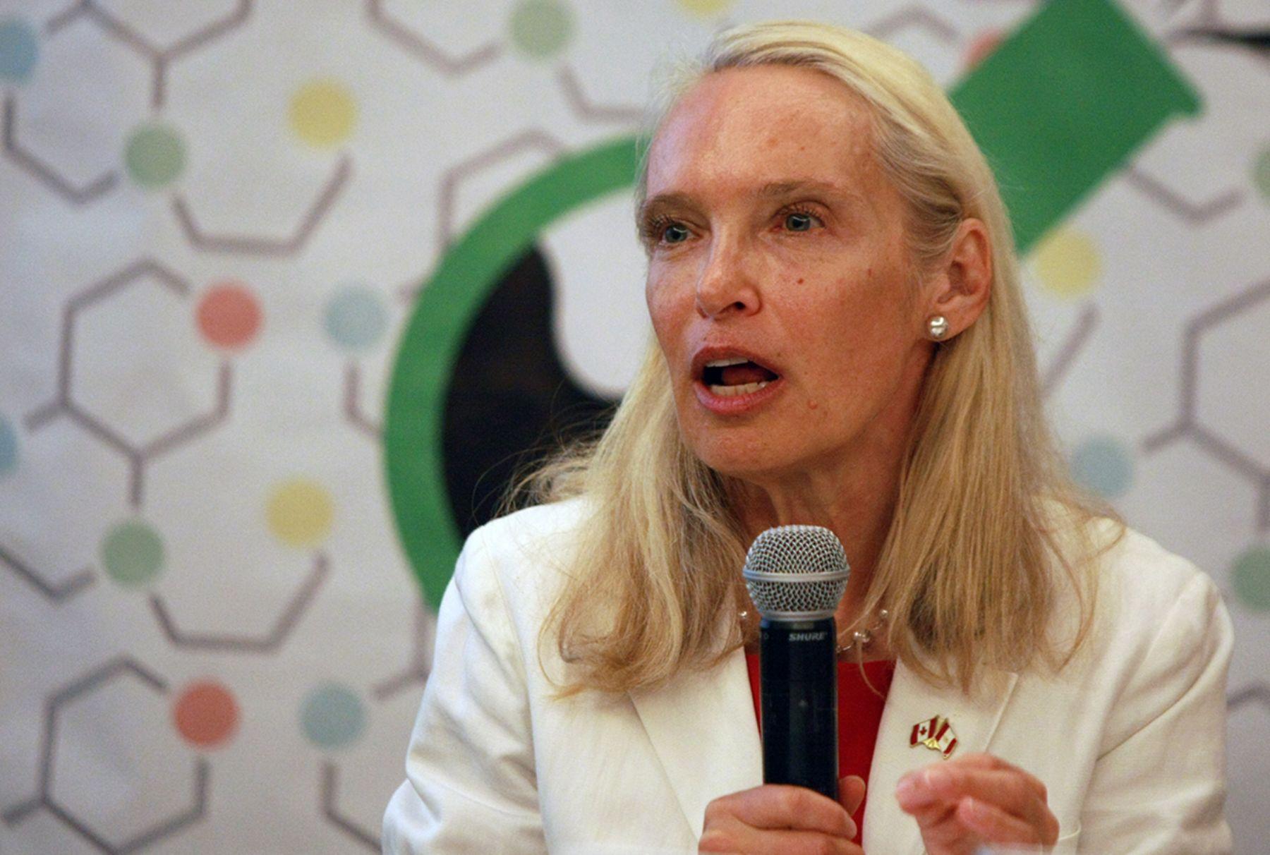 Canada's Ambassador to Peru, Patricia Fortier.