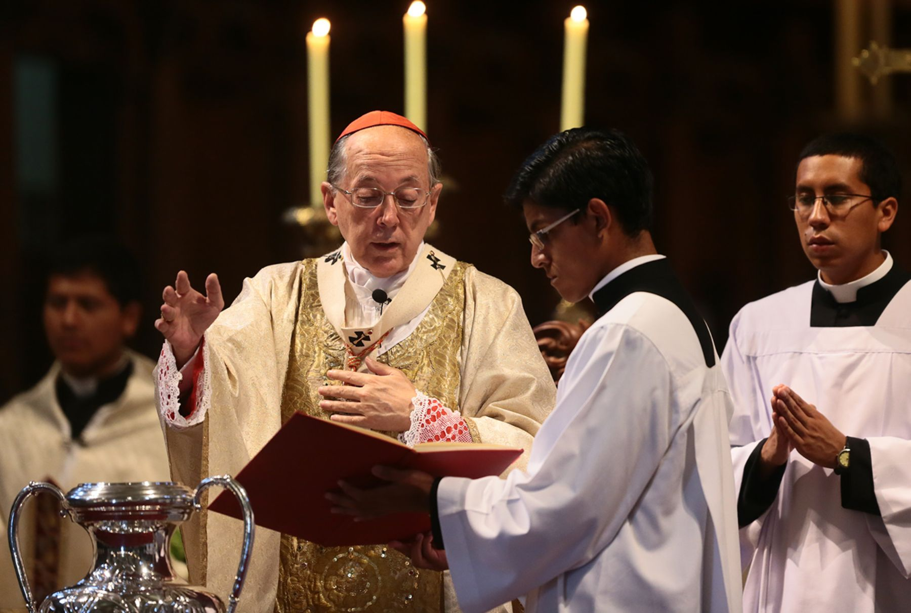 President Humala attends Mass and Te Deum at Lima's
