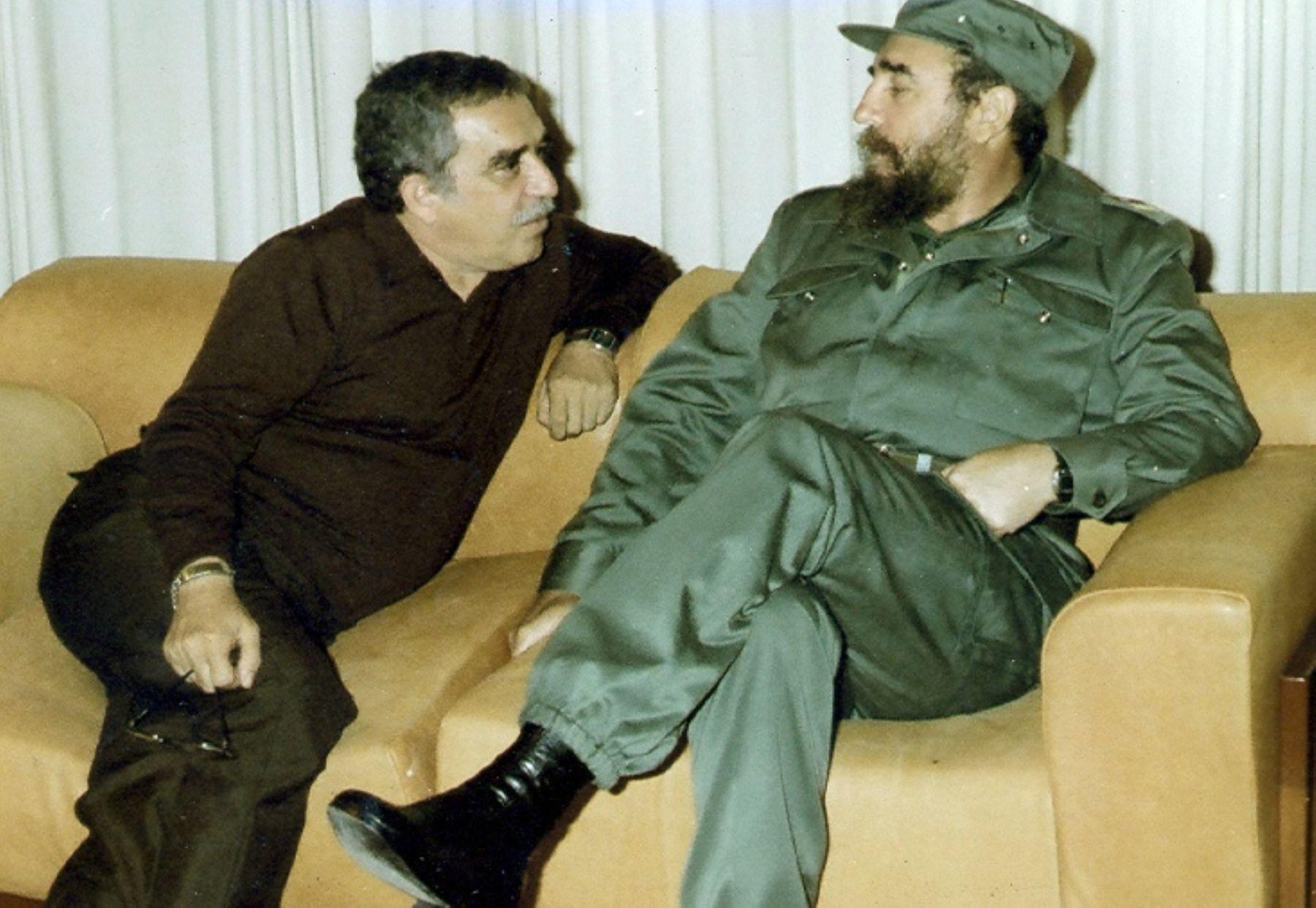 Gabriel García Márquez y Fidel Castro.