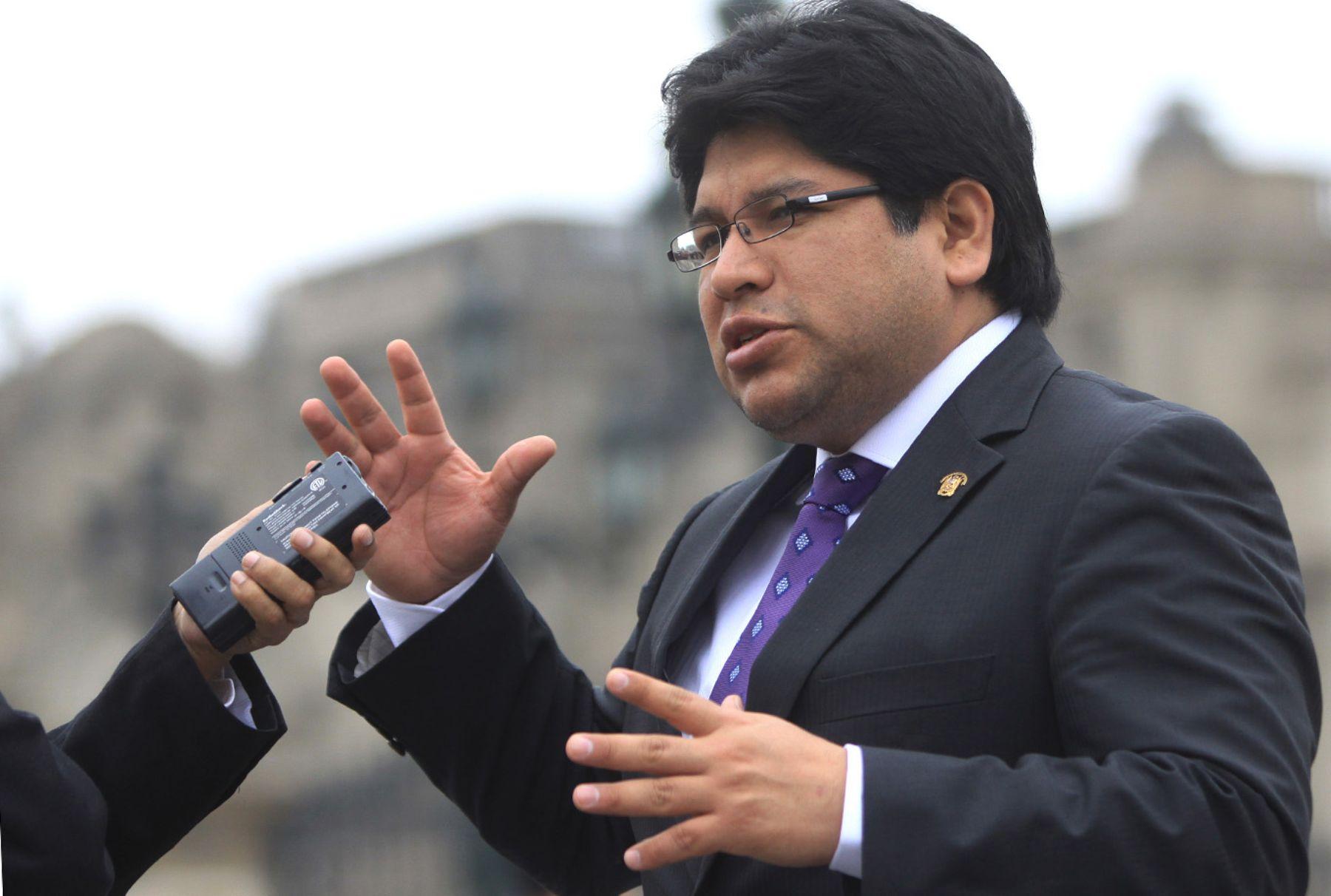 Congresista Renán Espinoza. Foto: ANDINA.