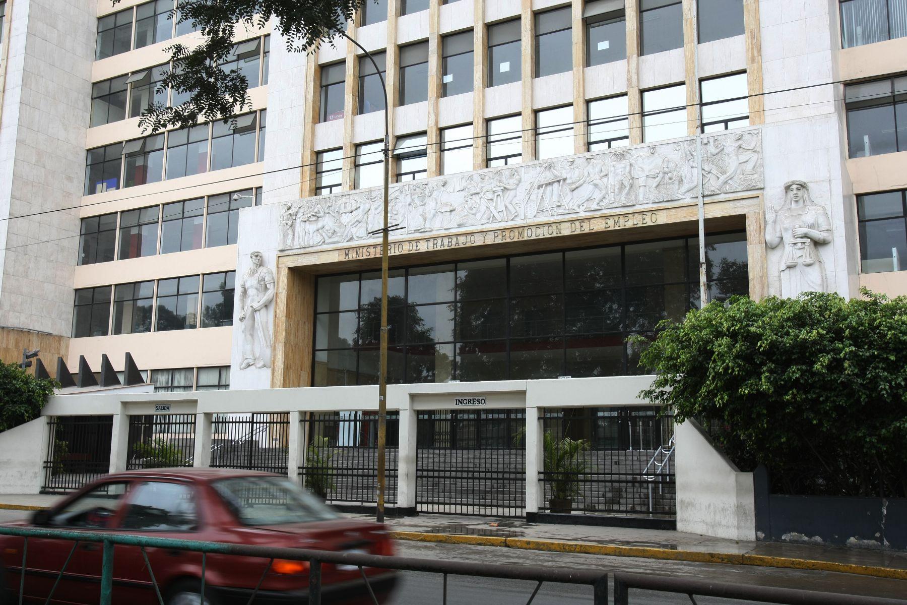 Ministerio de Trabajo y Promoción del Empleo (MTPE). Foto: ANDINA/Norman Córdova