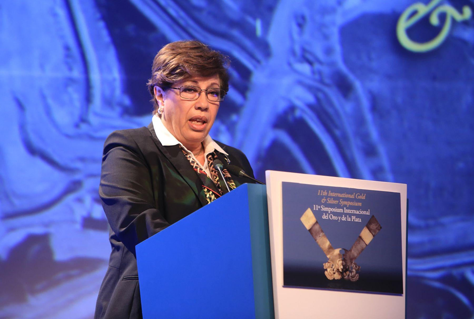 Presidenta de la Sociedad Nacional de Mineria, Petróleo y Energia , Eva Arias. Cortesía