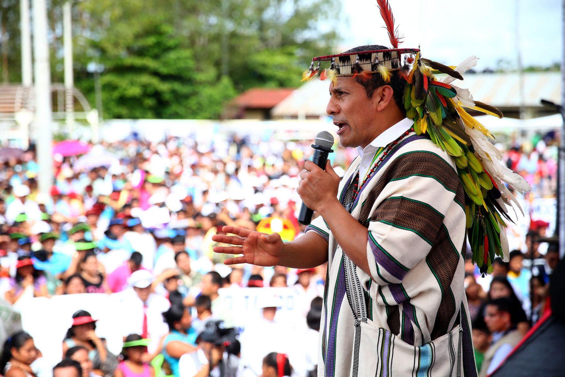 Encuentro del presidente Ollanta Humala Tasso con la población de Atalaya en el marco del 15° Consejo de Ministros Descentralizado de Ucayali