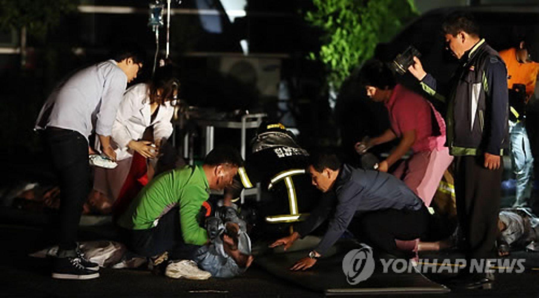 Incendio en hospital. Foto: Yonahp New.