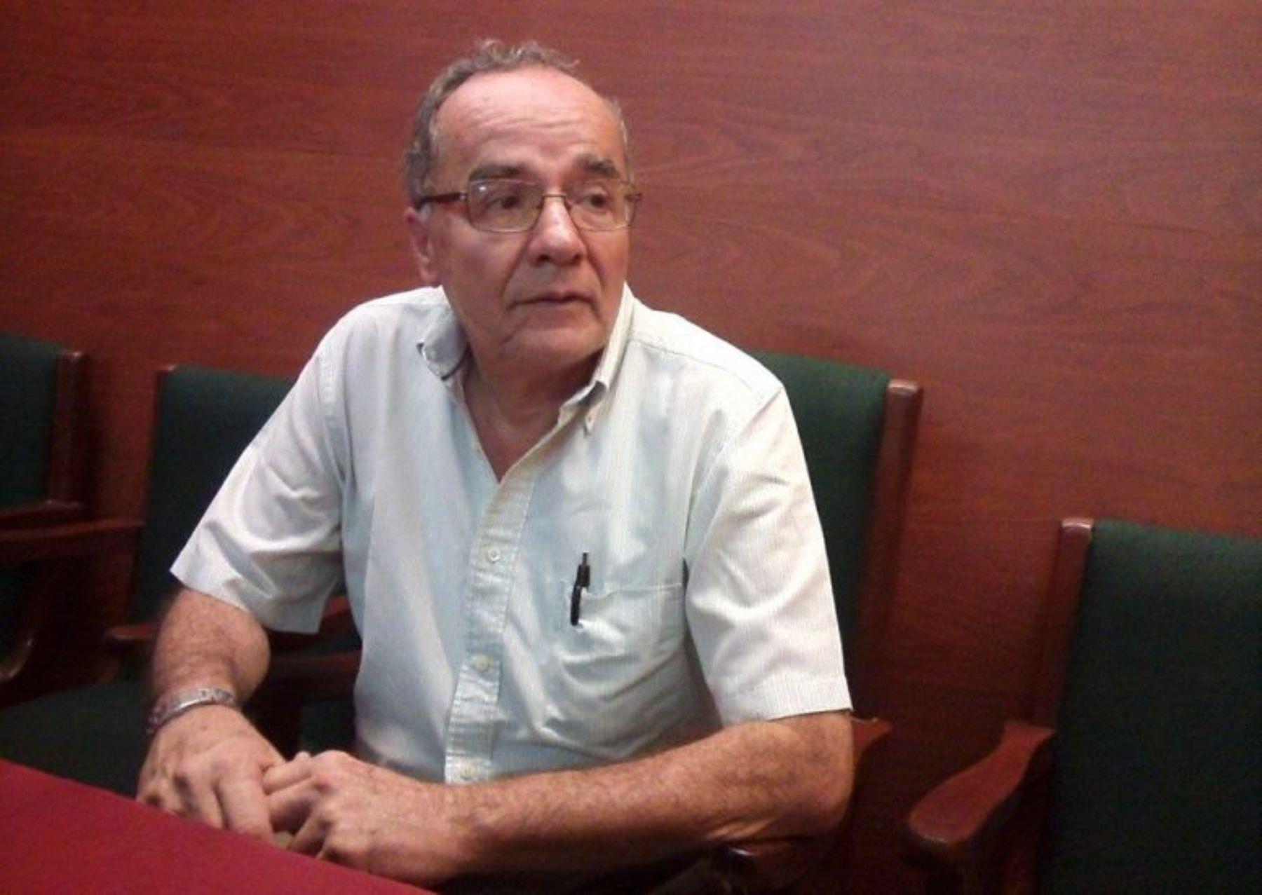 Presidente de la Cámara de Comercio y Producción de la provincia del Santa, Rodolfo León Menéndez.