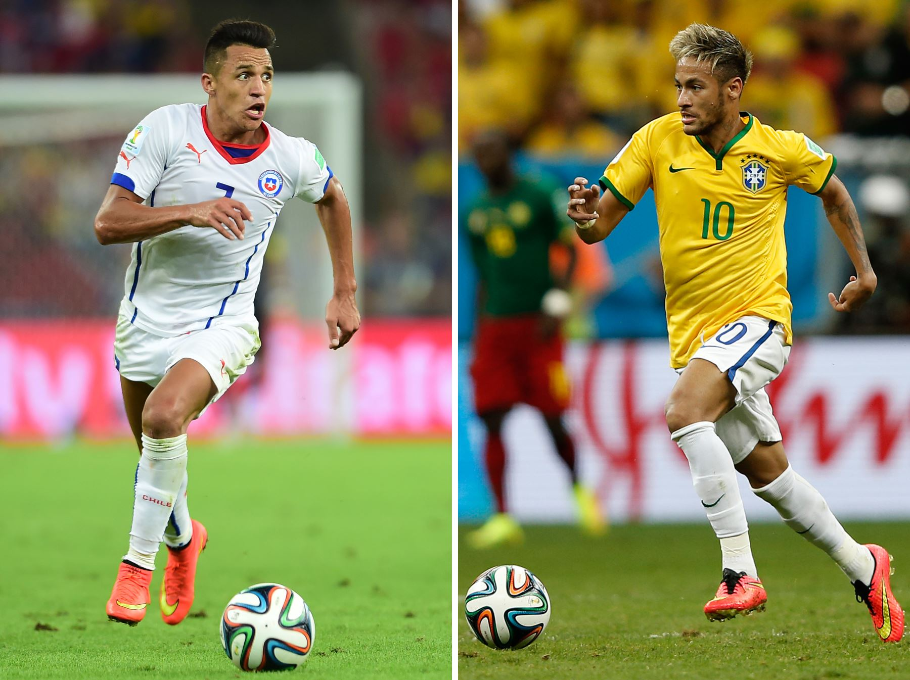 Brasil-Chile match-up. Photo: AFP