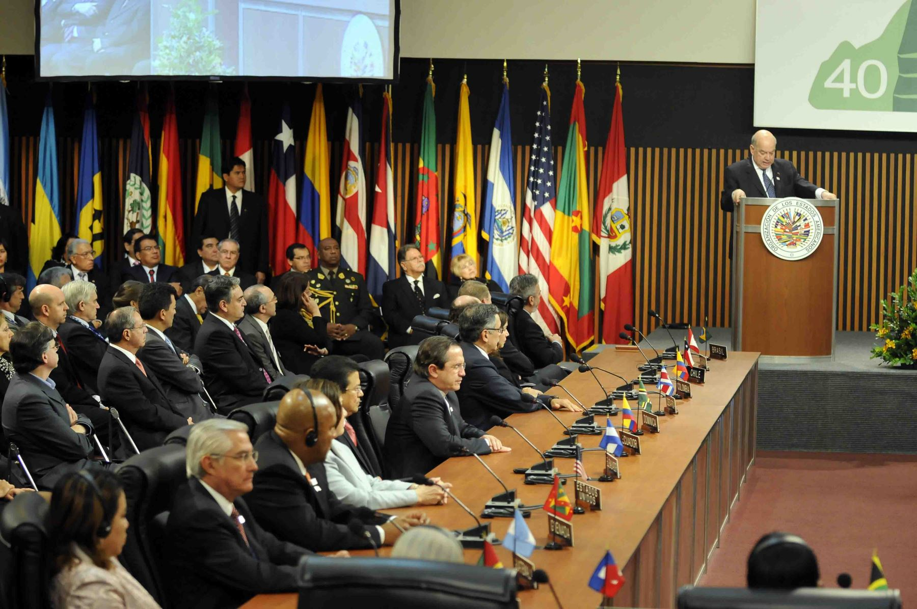 OAS Permanent Council Convenes Meeting of Foreign Ministers to discuss the Case of Argentina. Photo: Internet.