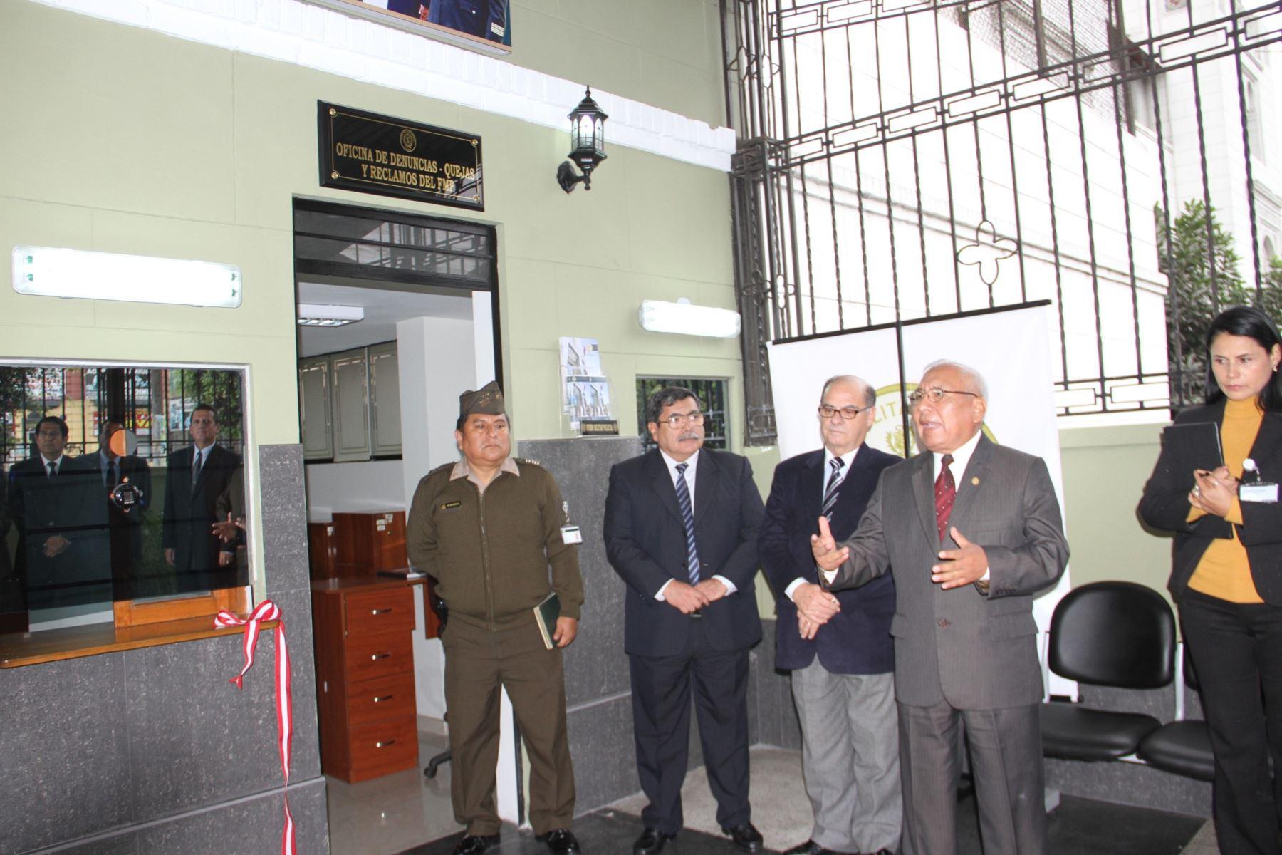 Fuero Militar Policial inaugura oficina de reclamos. Foto: Difusión.