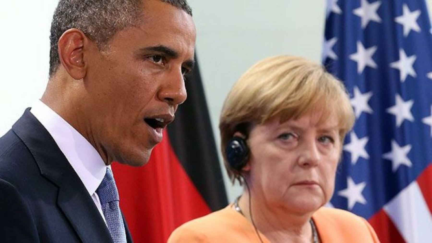 Presidente de Estados Unidos, Barack Obama; y canciller alemana, Ángela Merkel.