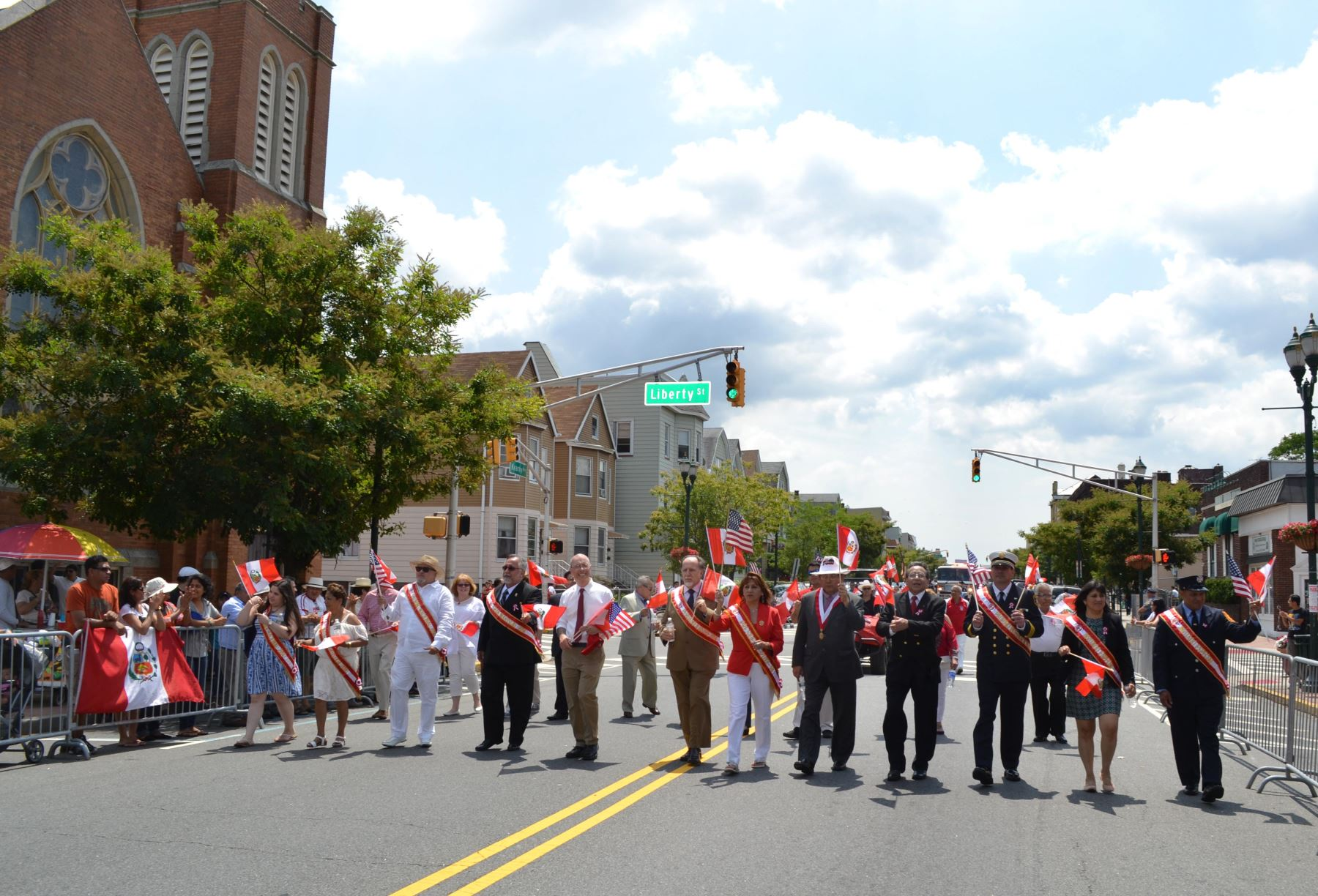 Peruvians celebrate Independence Day in the United States.