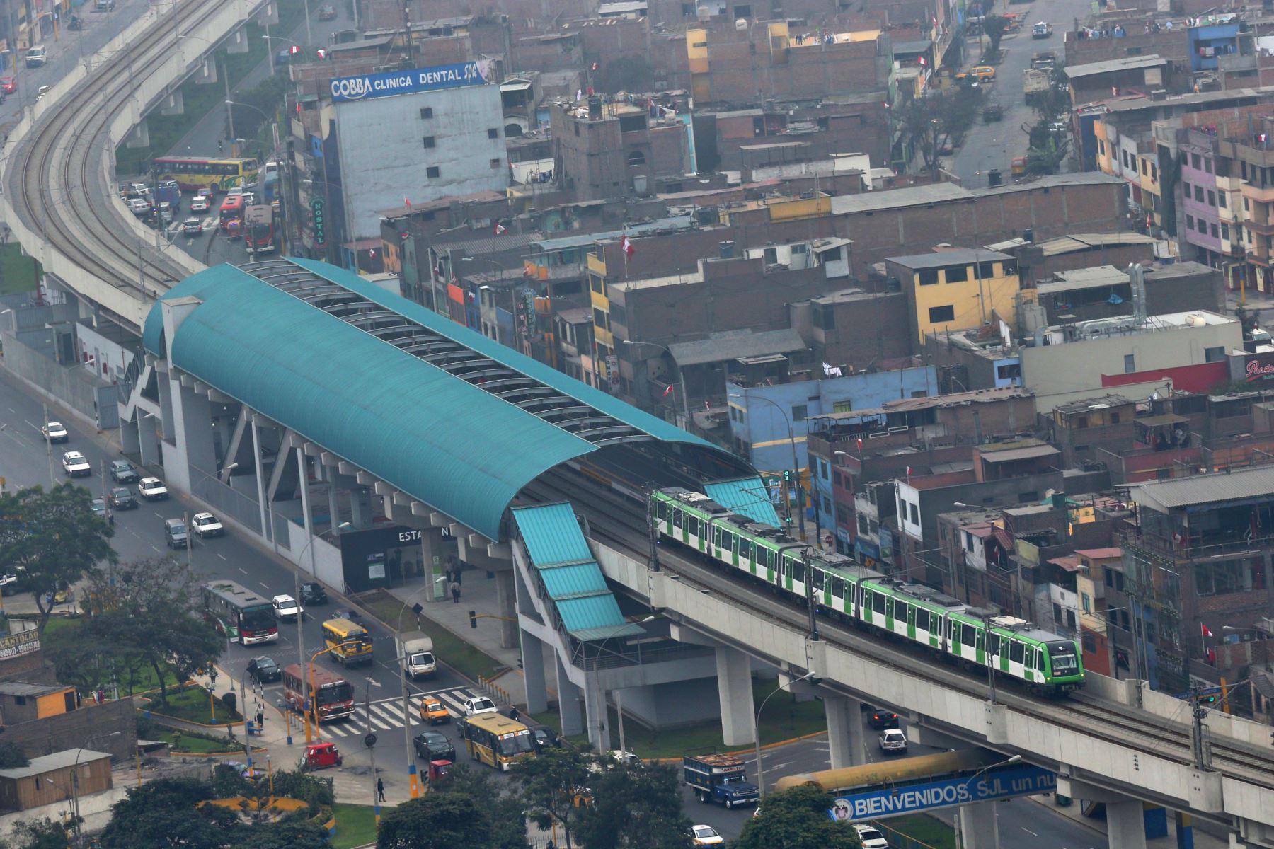 Panorámica del metro de Lima.Foto: ANDINA/Oscar Farje Gomero.