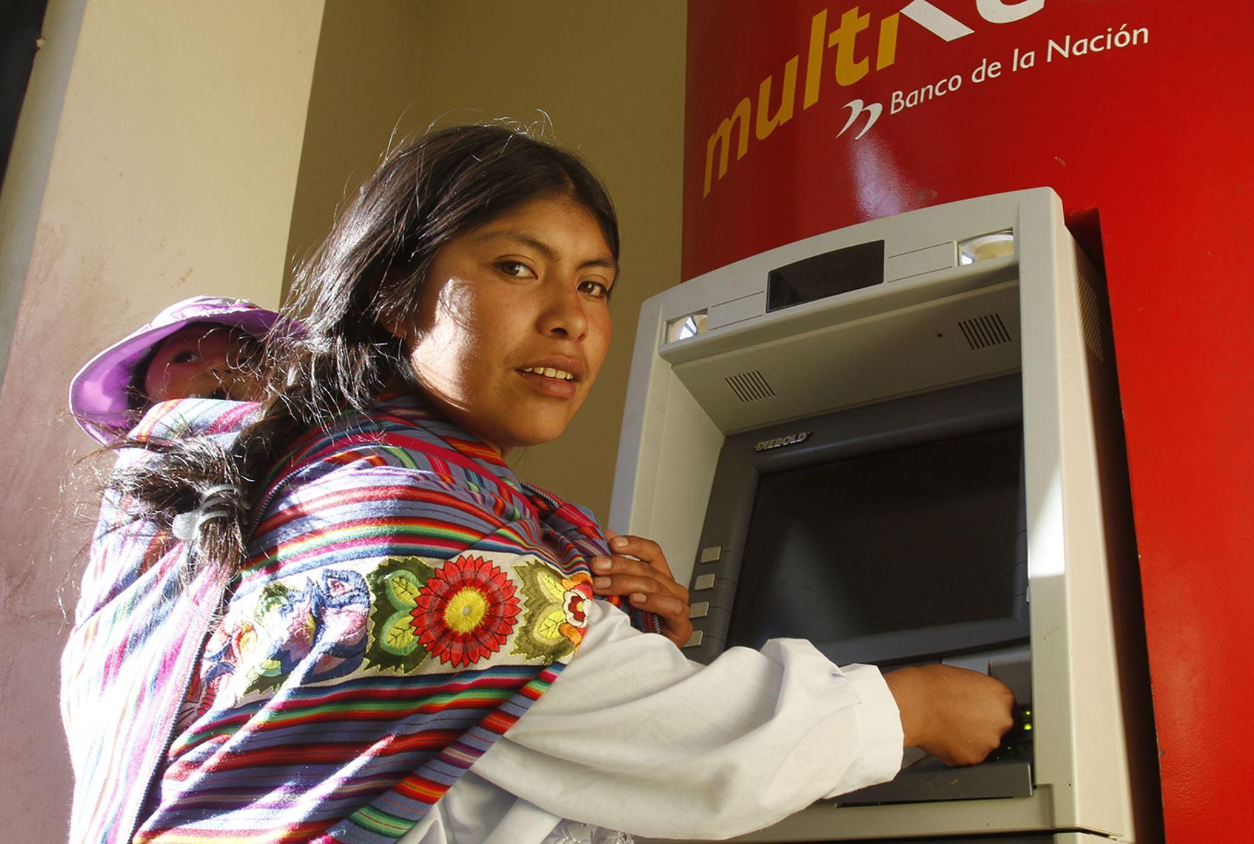 Juntos Bienvenidos Madres Pobreza Provincias Niños Atención Bancos Cajeros DNI Asistencia Cobro en Ventanilla Lactancia