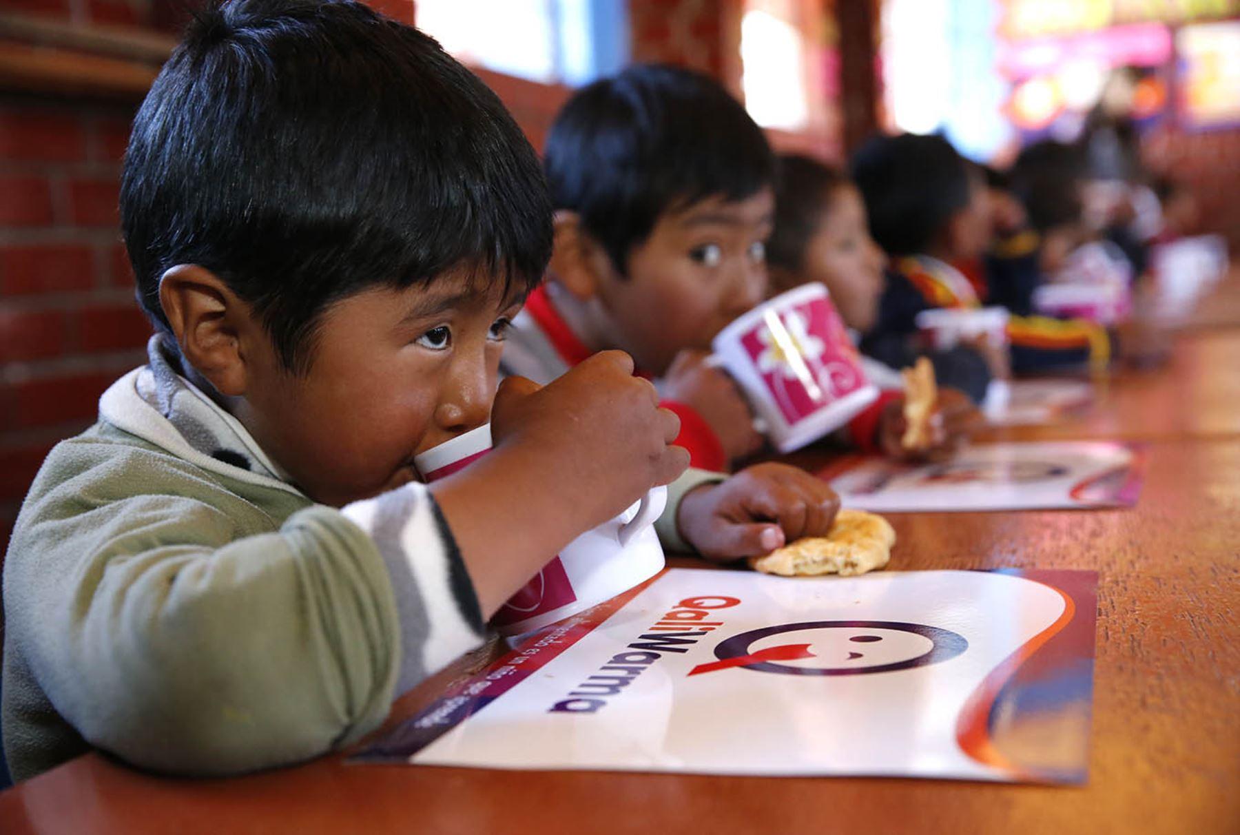 Qali Warma Alimentación Niños Provincias