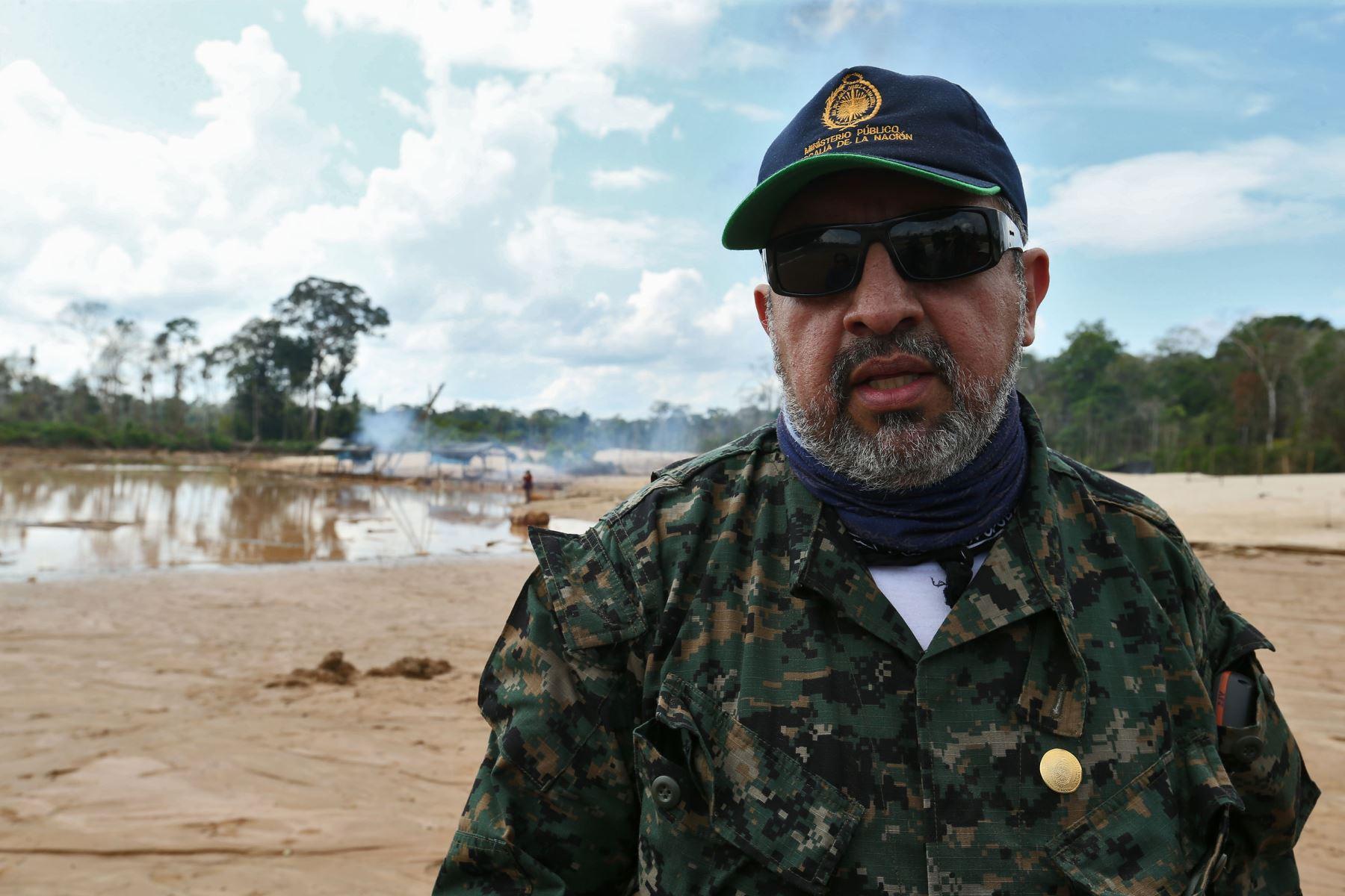 MADRE DE DIOS,PERÚ - AGOSTO 06. José Antonio Fernandez Jerí, Coordinador de fiscalía especializada en materia ambiental.Foto: ANDINA/Oscar Farje Gomero.