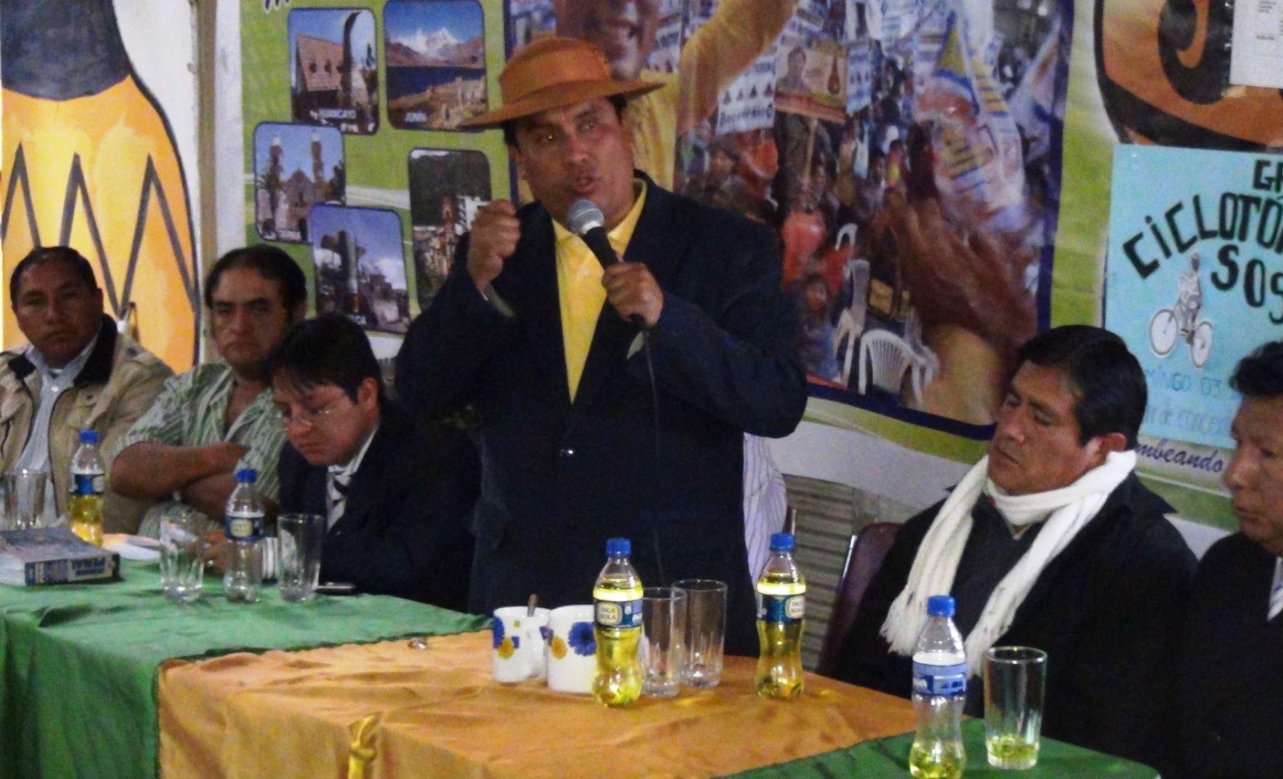 Poder Judicial sentenció a candidato a la presidencia regional de Junín, Ángel Unchupaico.
