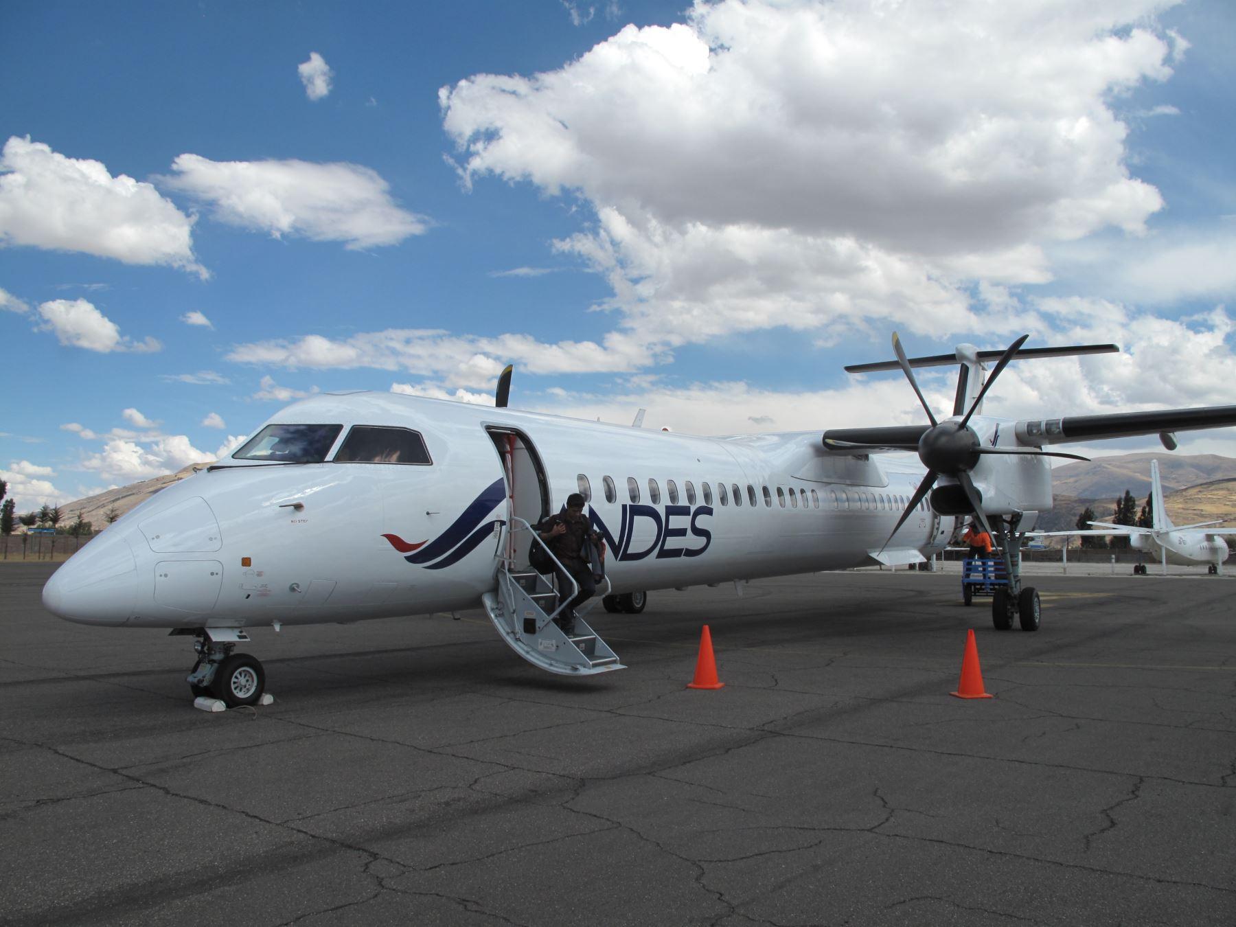Andes Air realizó vuelo de reconocimiento hacia Jauja.
