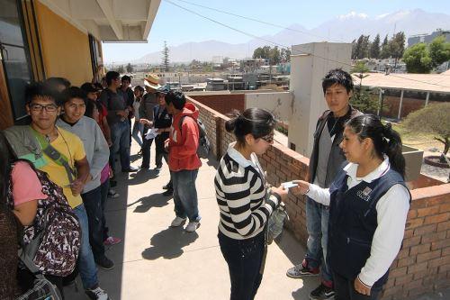 El 85% de mesas de votación ya fue instalada en Arequipa. ANDINA/Difusión